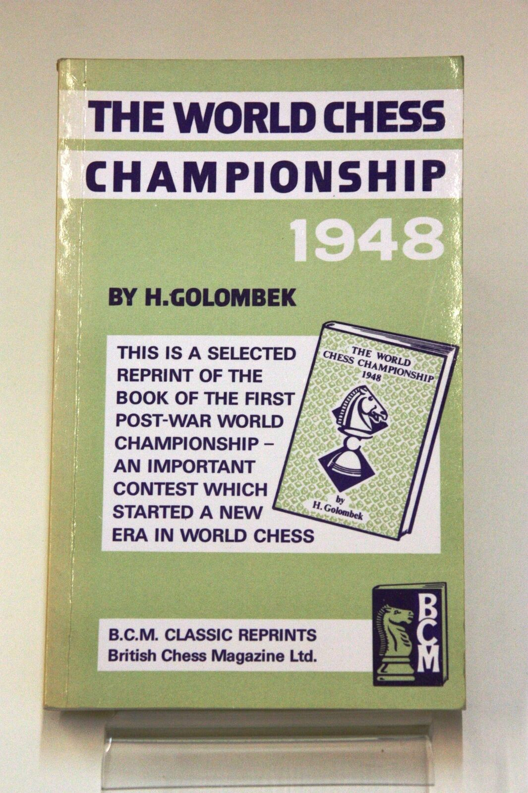 B.C.M. Classic Reprints, number 20: World Chess Championship 1948, Golombek, Harold, 01-03-1982 (1949). ISBN 978-0-900846-35-9.