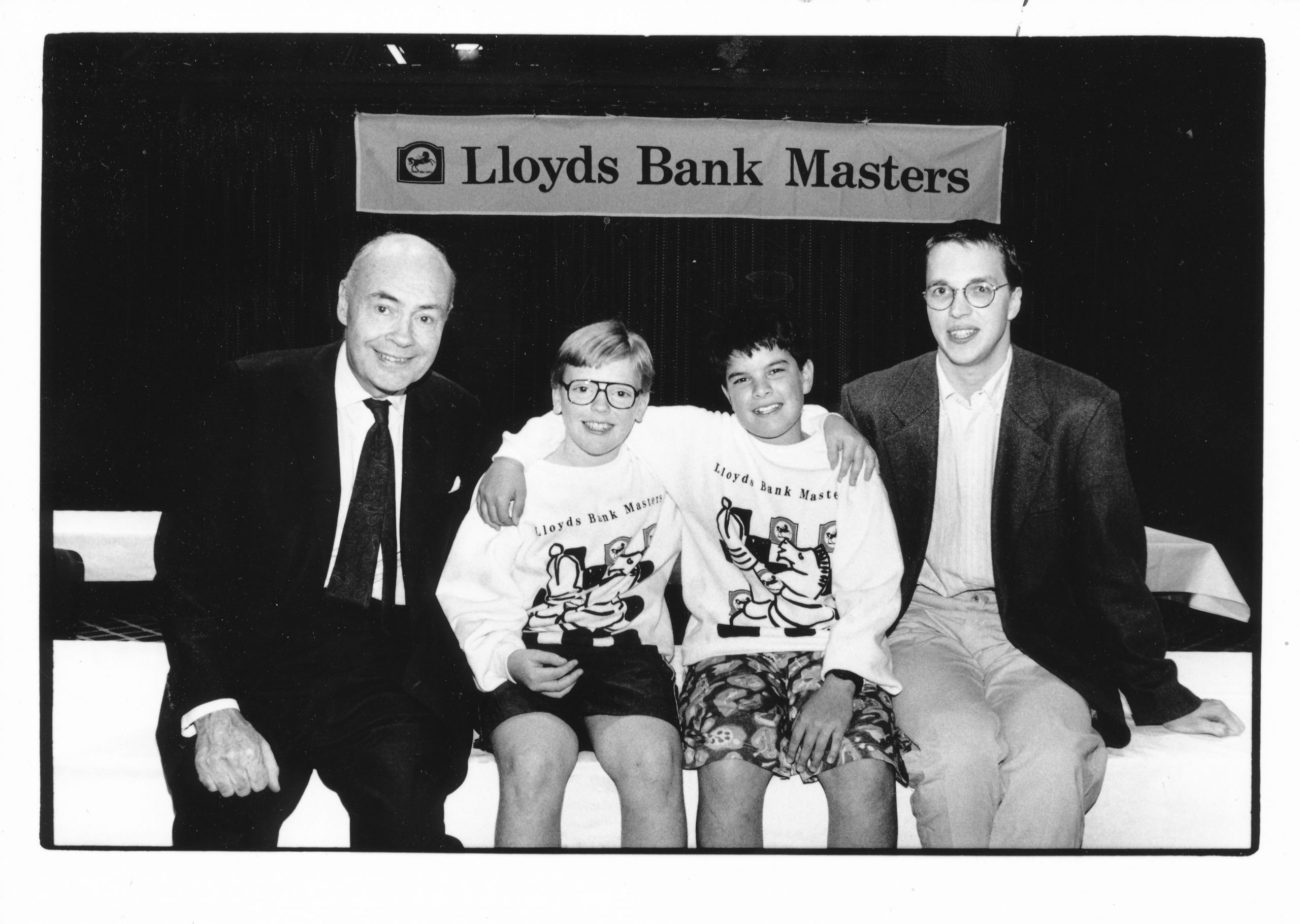 Jeremy Morse, Adam Hunt, Nick Pert and Nigel Short at the Lloyds Bank Masters