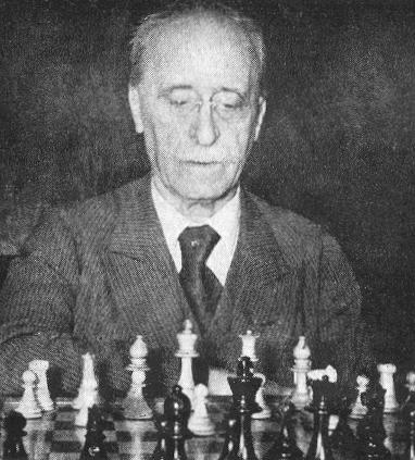 Jacques Mieses. Source : Chess Notes by Edward Winter