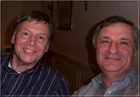 Jimmy Adams and Michael Negele at the 2012 meeting of the Ken Whyld Association