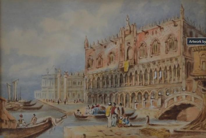The Doge's Palace, Venice 1880s by Carslake W Winter-Wood