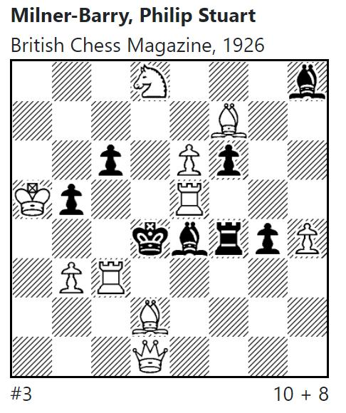 Sir Stuart Milner-Barry, Problem, British Chess Magazine, 1926