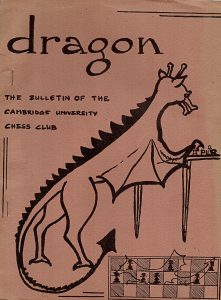 A sample cover of Dragon, the Cambridge University Chess Club Magazine