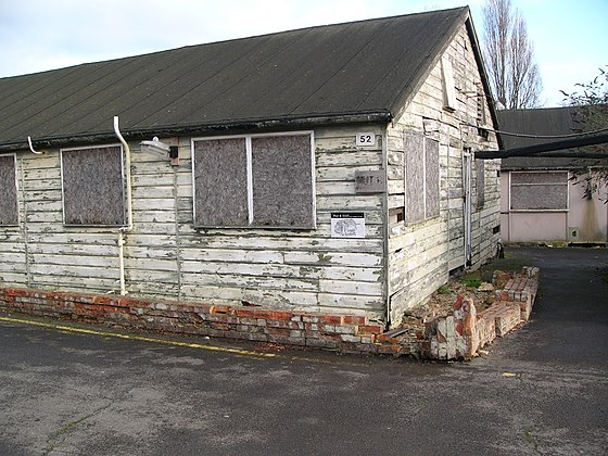 The original Hut 6 building (photographed in 2004). Milner-Barry joined Hut 6 in early 1940, and worked in the section throughout World War II. He became head of Hut 6 in Autumn 1943.