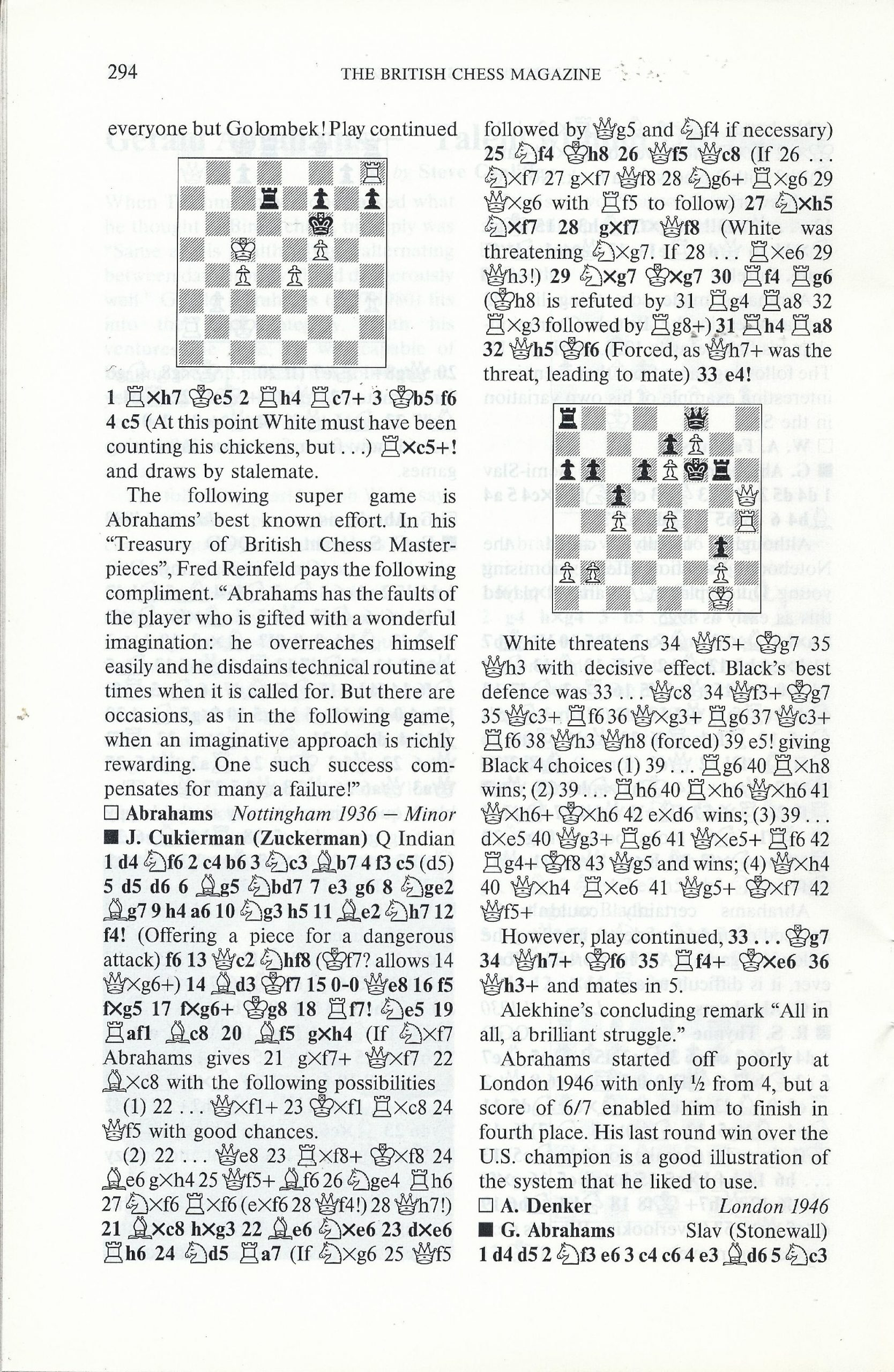 British Chess Magazine, Volume CVIII (1988), Number 7 (July), pp. 294