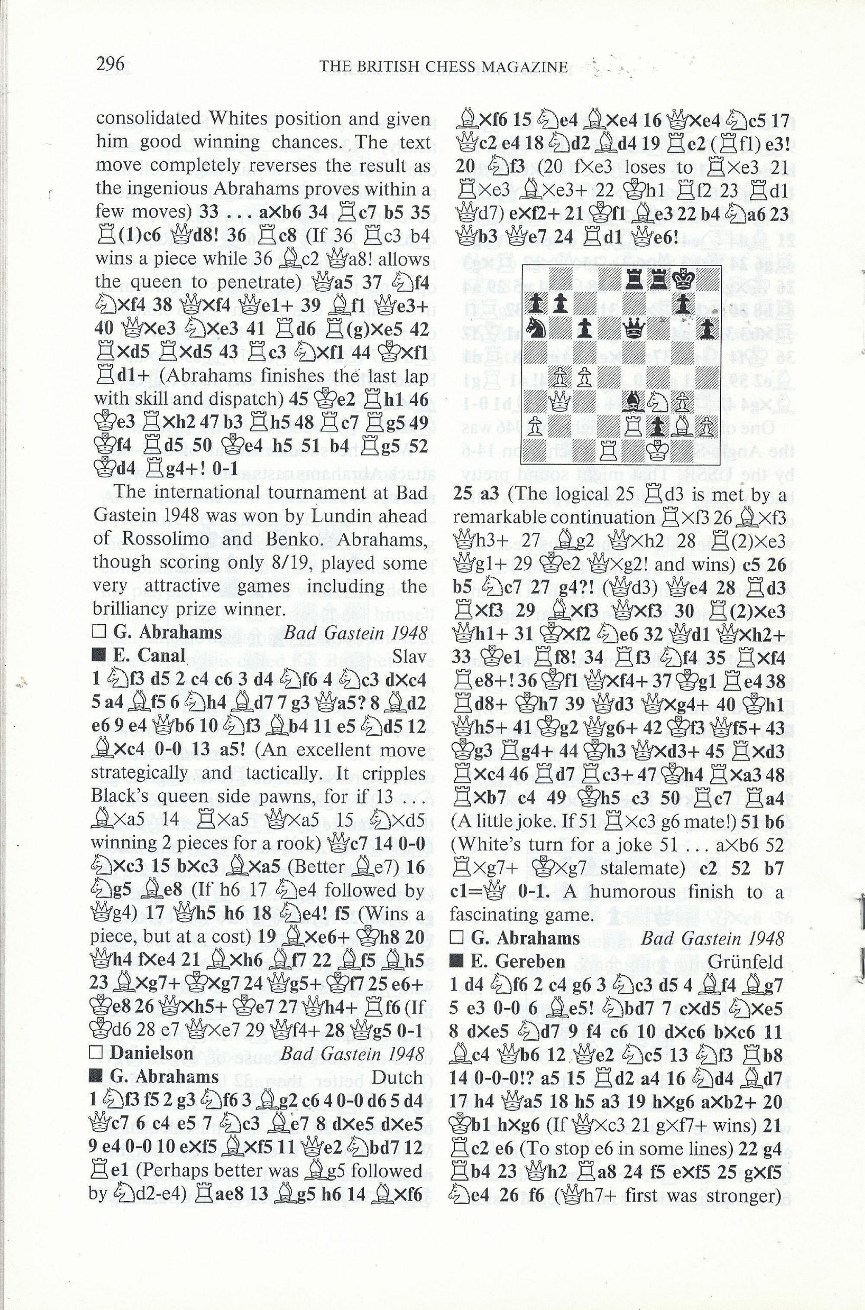 British Chess Magazine, Volume CVIII (1988), Number 7 (July), pp. 296