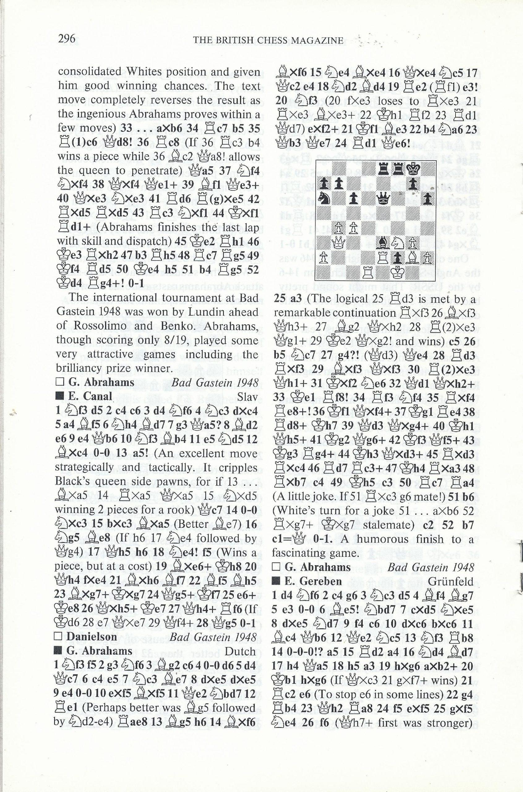 British Chess Magazine, Volume CVIII (1988), Number 7 (July), pp. 296