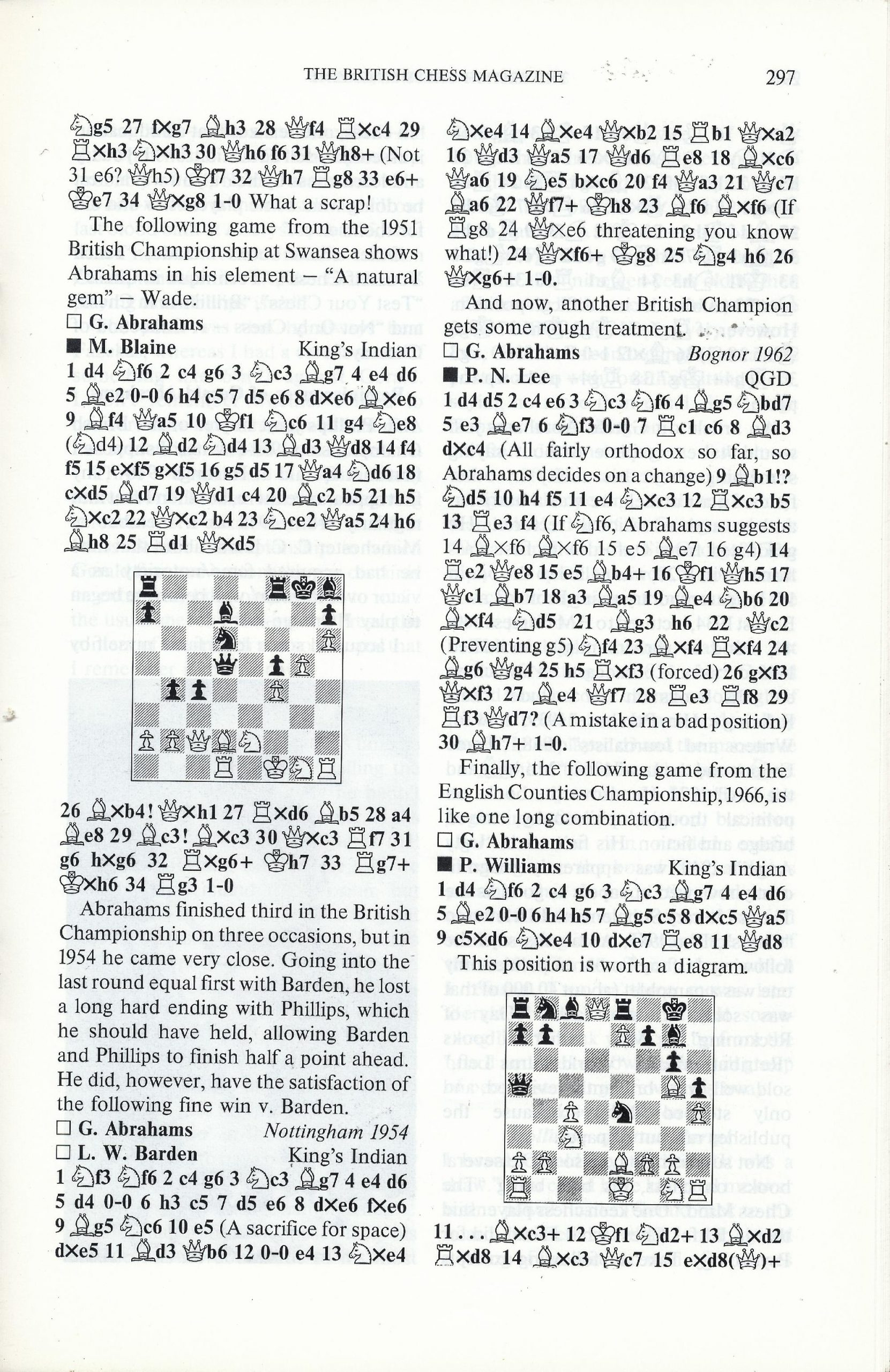 British Chess Magazine, Volume CVIII (1988), Number 7 (July), pp. 297