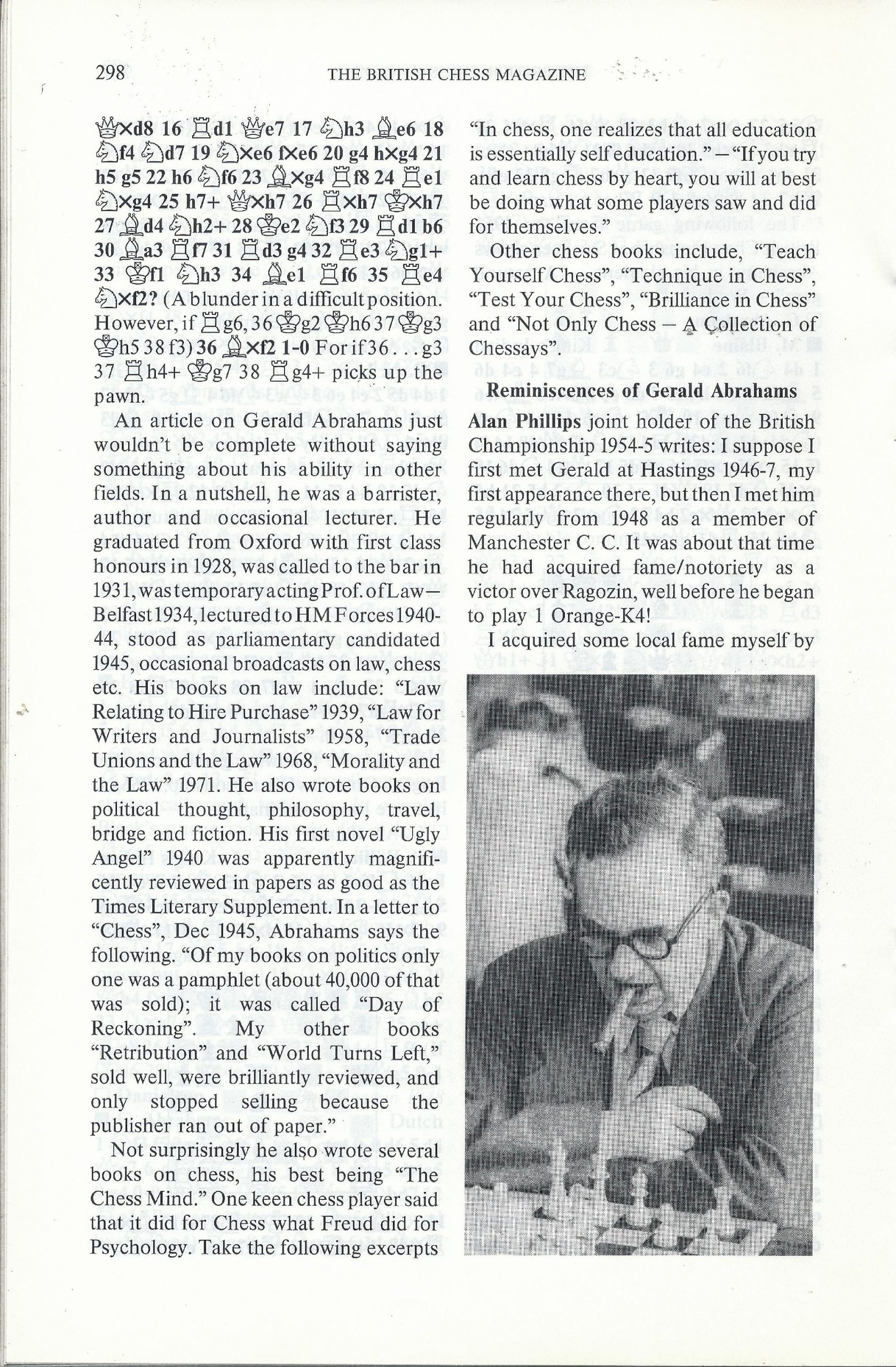 British Chess Magazine, Volume CVIII (1988), Number 7 (July), pp. 298