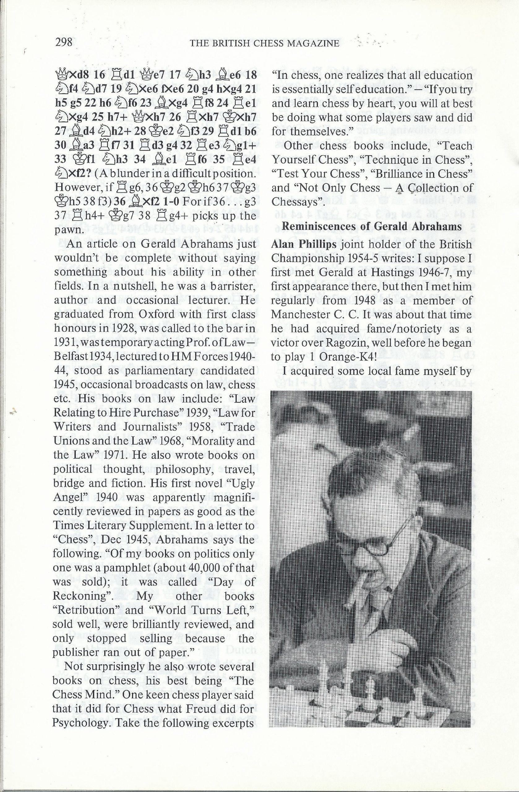 British Chess Magazine, Volume CVIII (1988), Number 7 (July), pp. 298