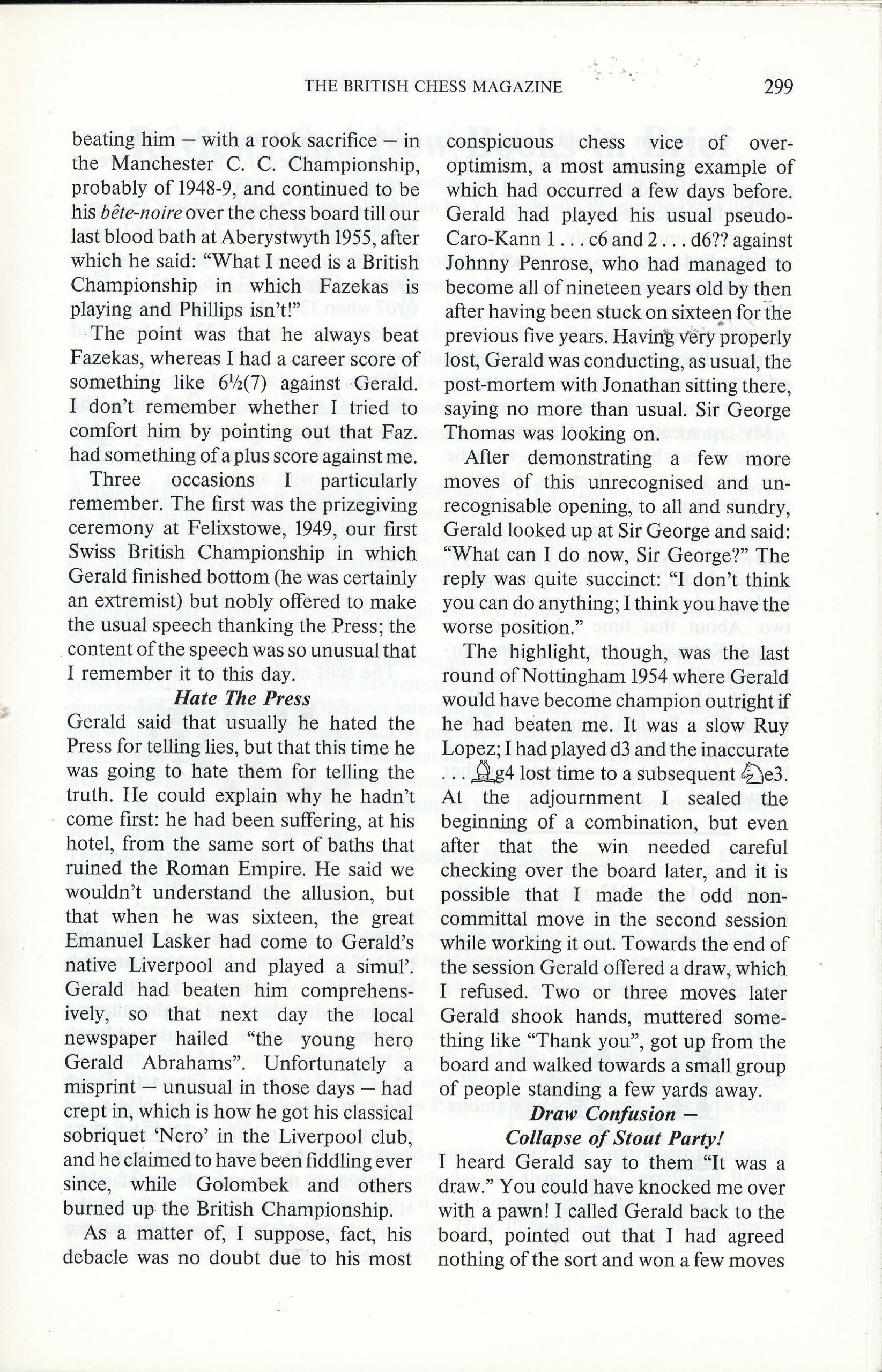 British Chess Magazine, Volume CVIII (1988), Number 7 (July), pp. 299