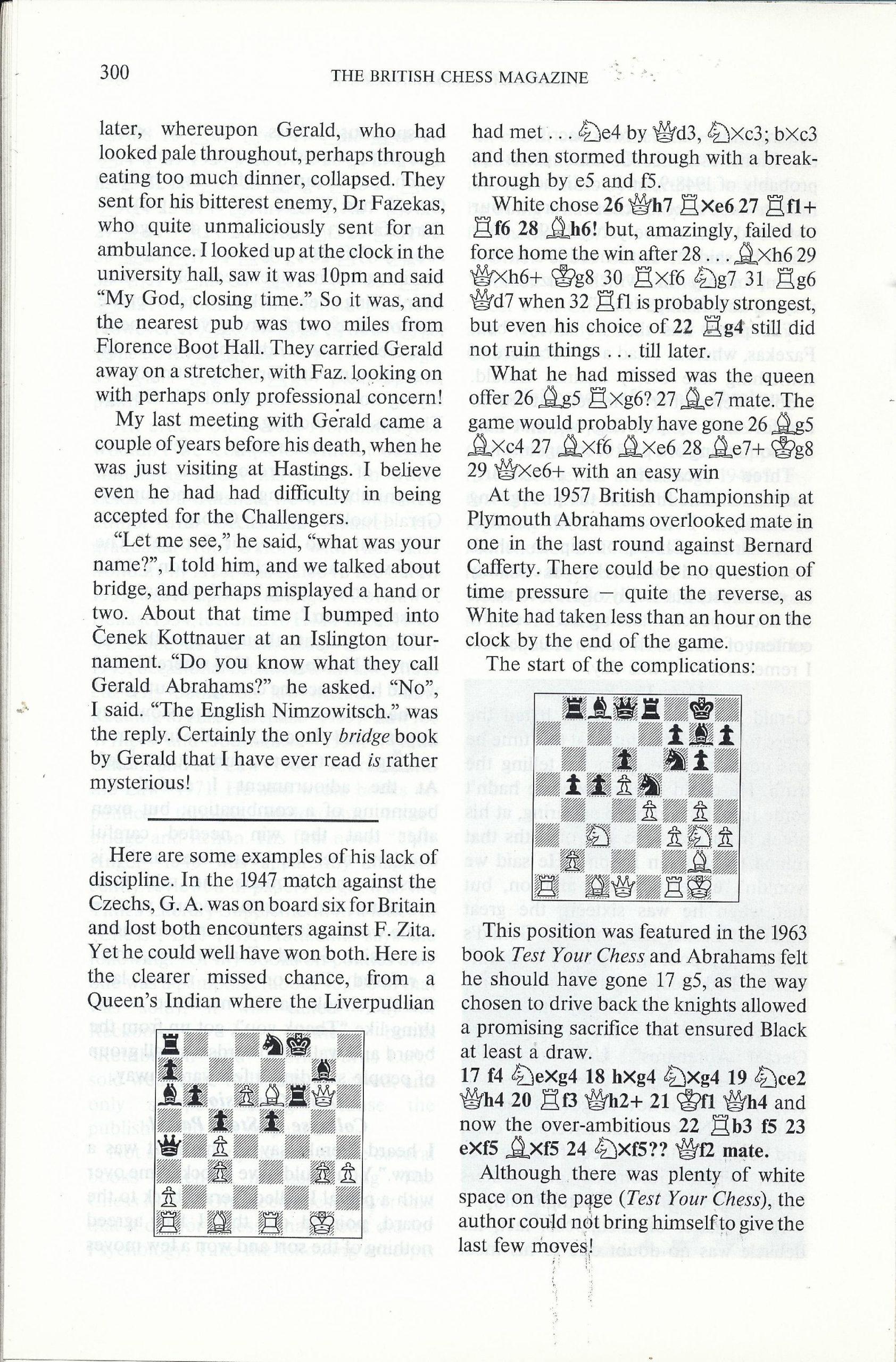 British Chess Magazine, Volume CVIII (1988), Number 7 (July), pp. 300