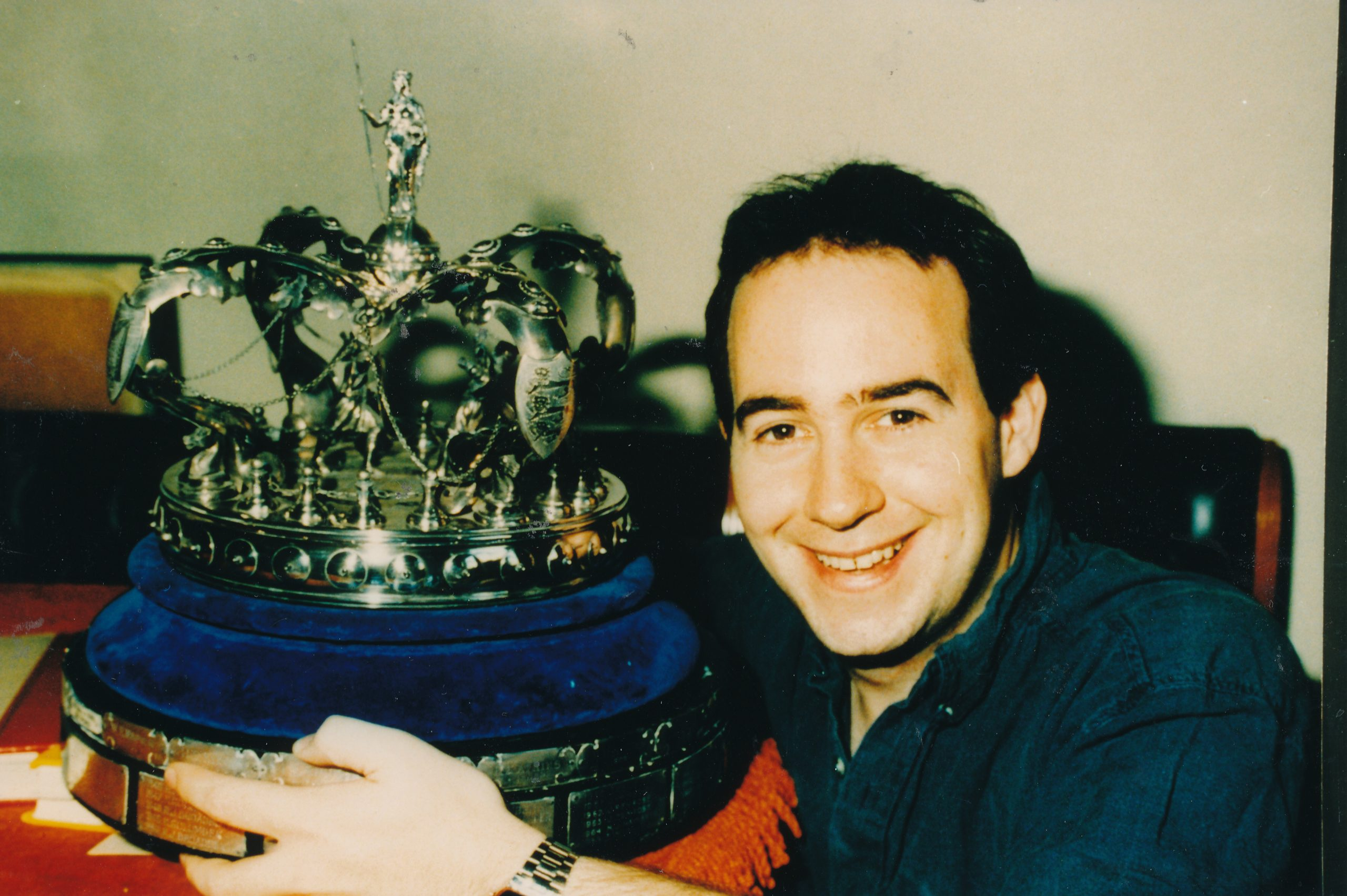 Chris with the British Championship Trophy from 1996 (Nottingham)