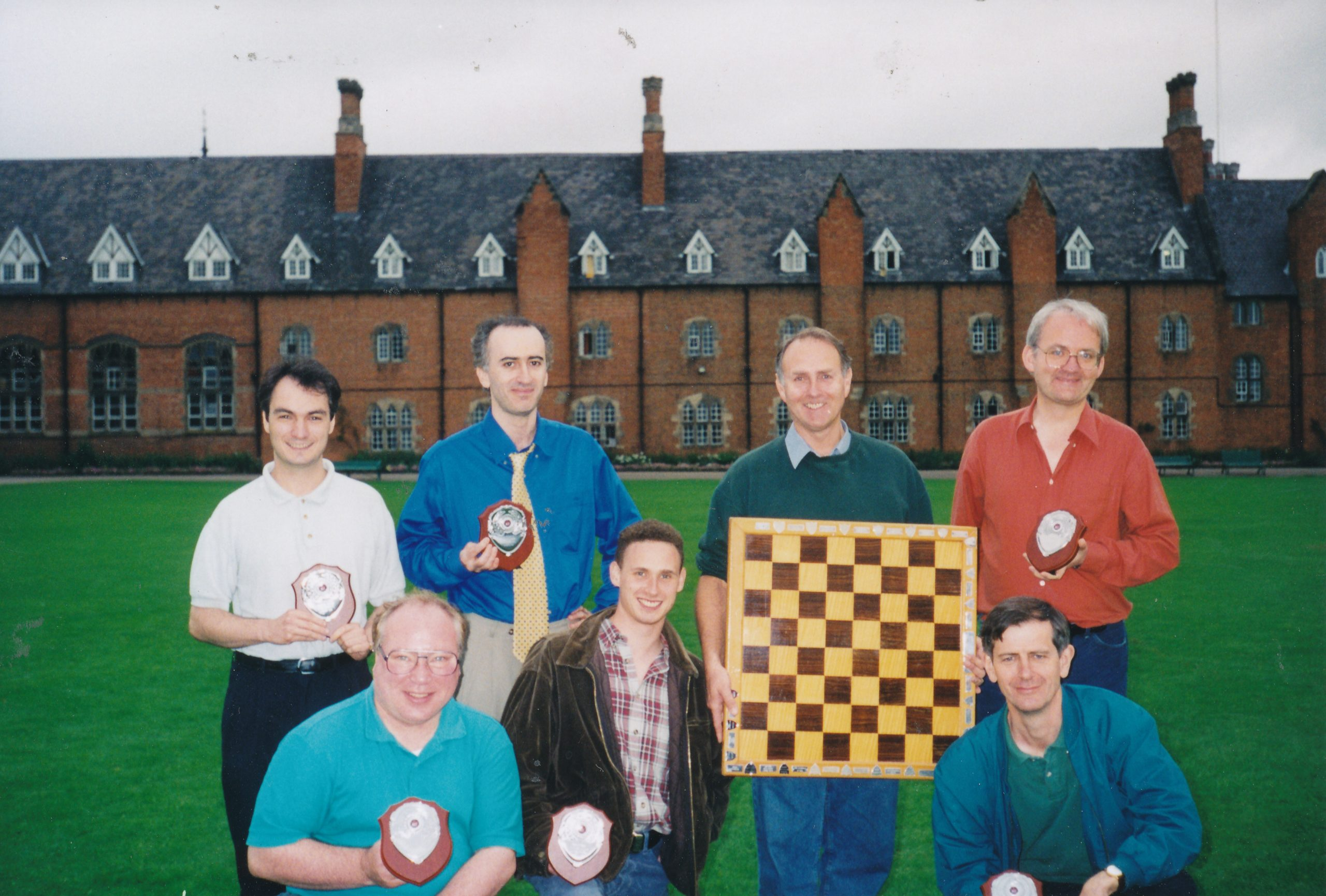 Peter Sowray (top right) with a victorious Wood Green team