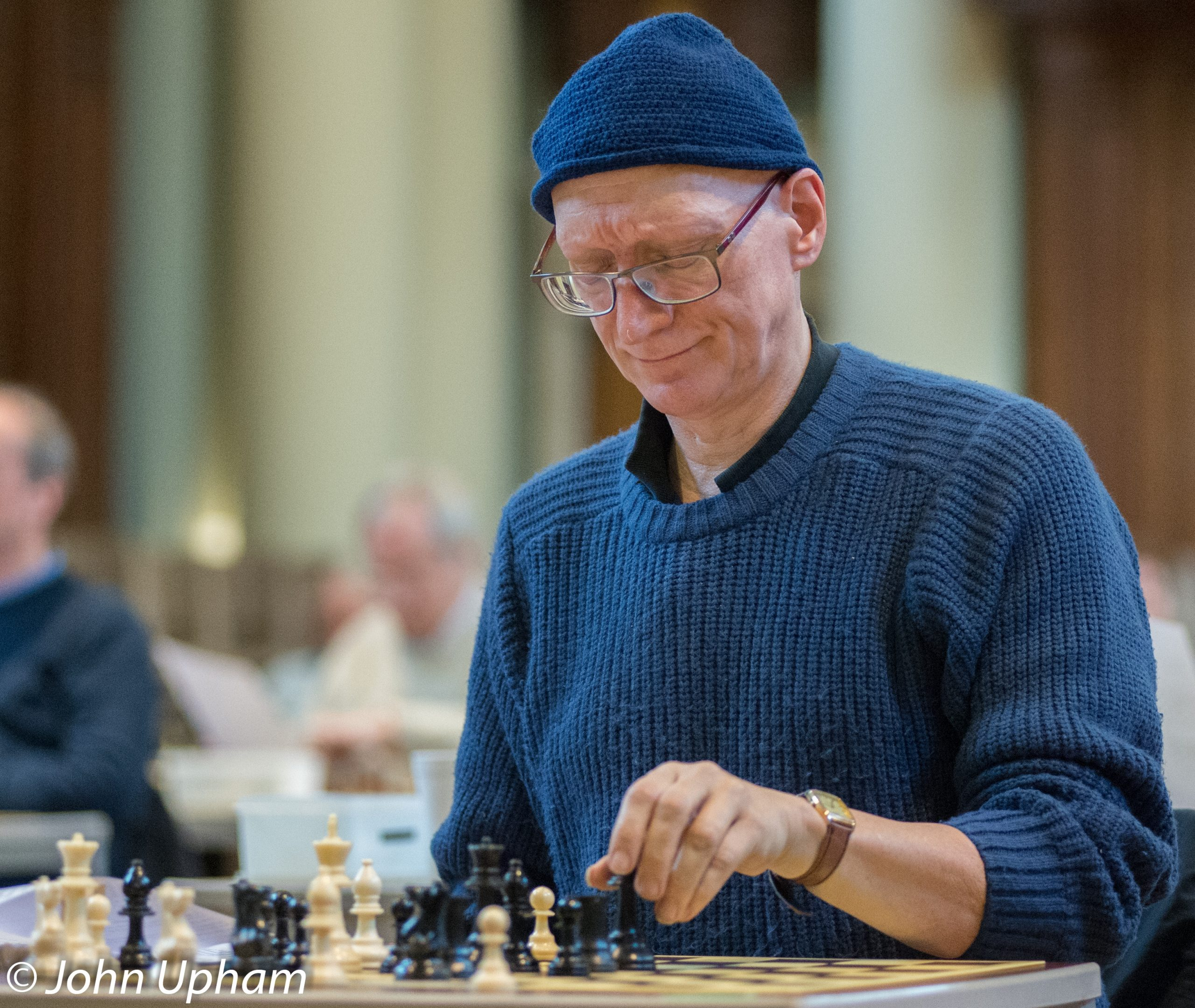 Jonathan Mestel at the 2014 Winton Capital British Solving Championships at Eton College, Courtesy of John Upham Photography