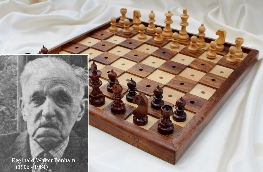 RW Bonham and a Braille chess set set-up incorrectly