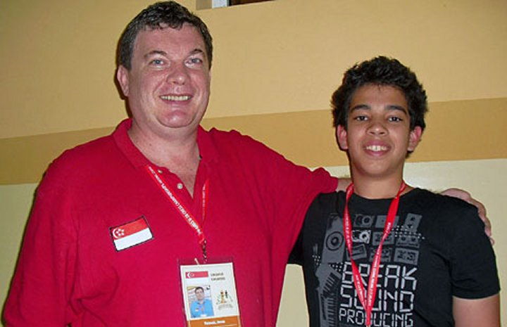 Daniel with IM Jovan Petronic during the 2010 world juniors in Chotowa, Poland | Photo: Diana Mihajlova
