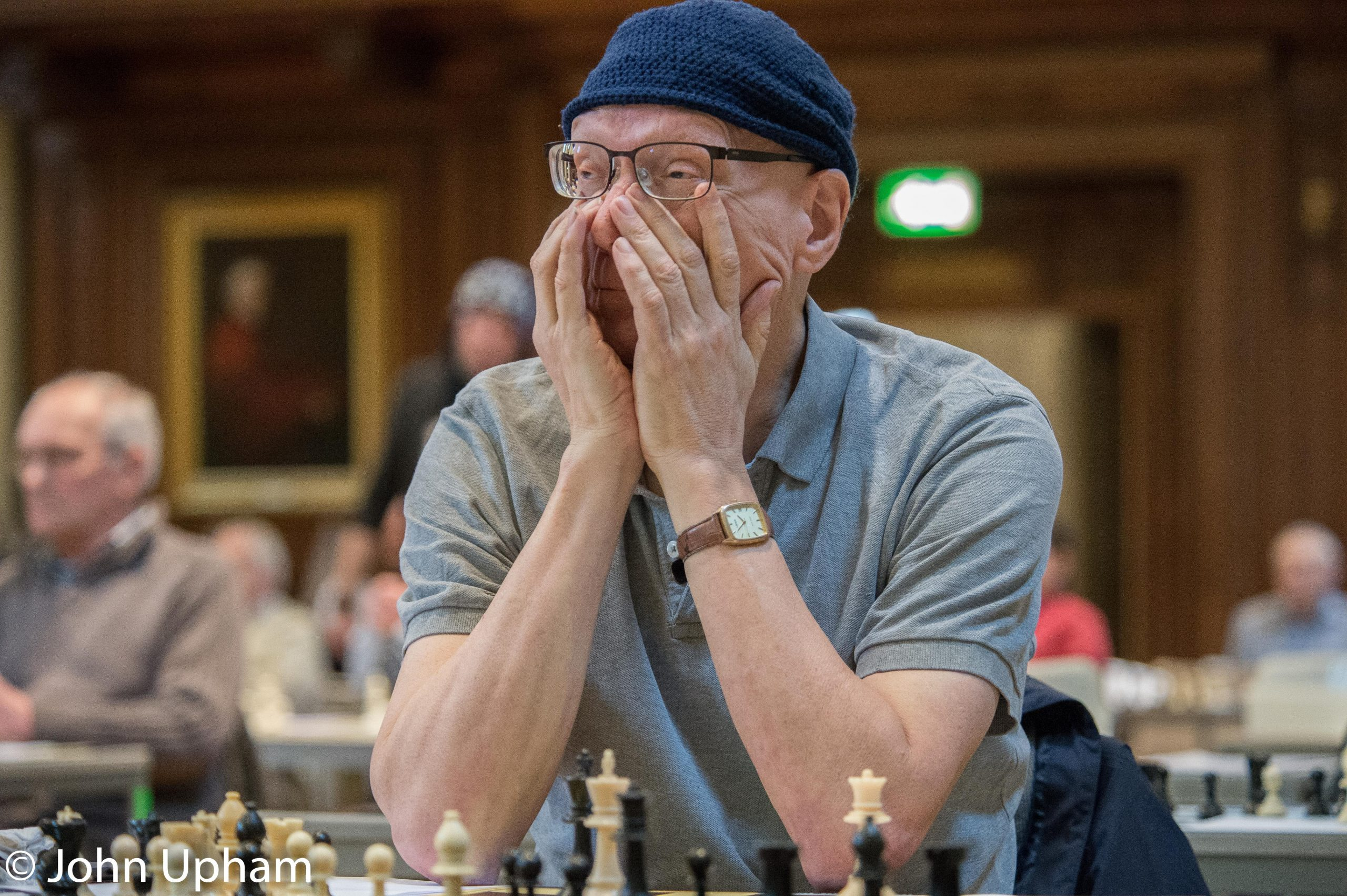 GM Jonathan Mestel at the 2016 Winton Capital British Solving Championships at Eton College, Courtesy of John Upham Photography