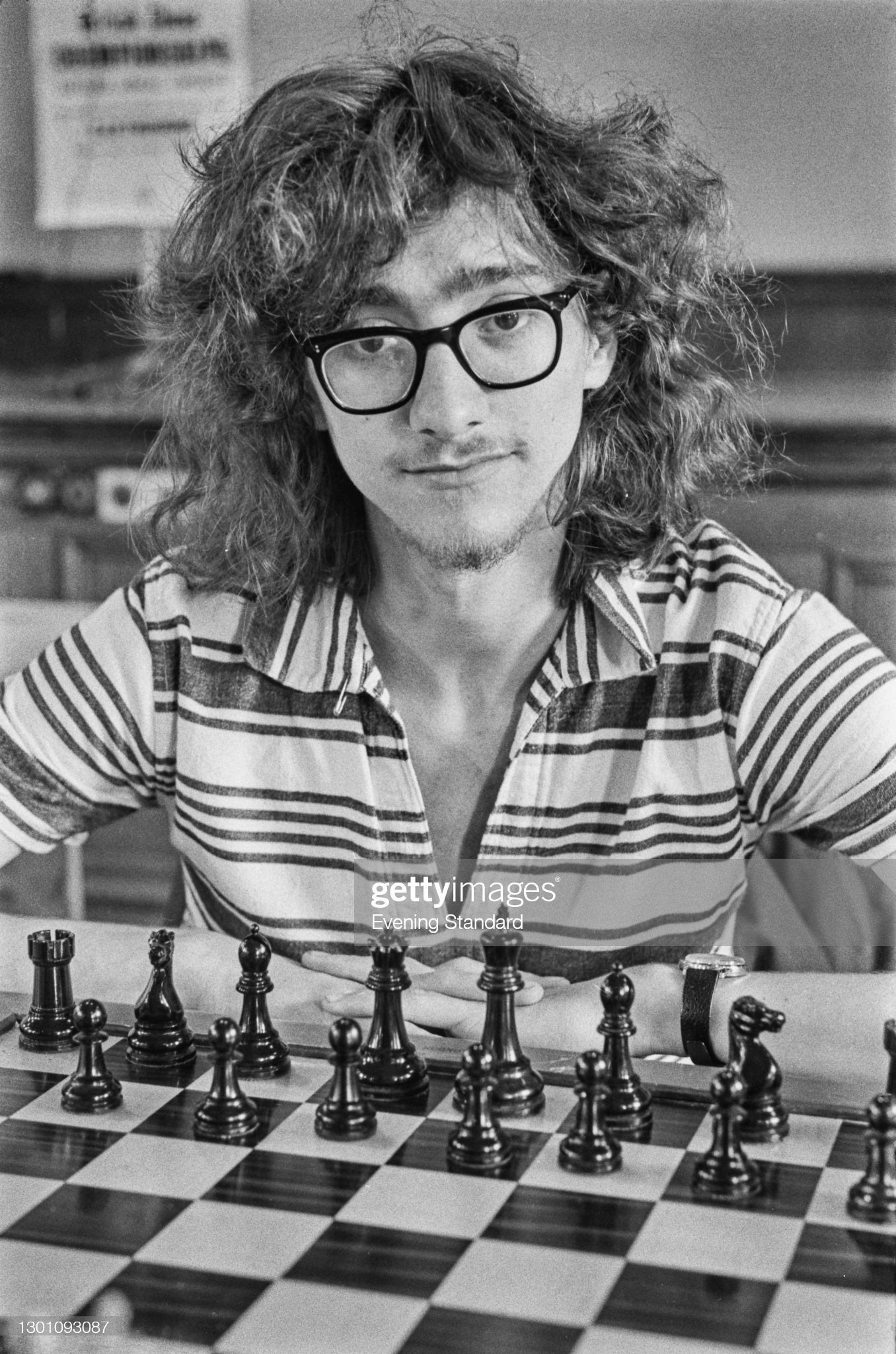 English chess player and mathematician Jonathan Mestel during the British Chess Championships at Eastbourne, East Sussex, UK, 14th August 1973. (Photo by Evening Standard/Hulton Archive/Getty Images)