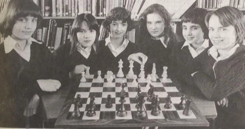 It was January 1980 and they all attended Westergate Comprehensive and Community School and had just beaten the mighty Dorothy Skinner High School, in Brighton, to qualify for the final of the Sussex Girls under-16 chess championships. Pictured from left: Melaine Wright, 11, Mandy Hepworth, 11, Lesley Glen, 11, Deborah Baxter, 12, Gail Curryer, 11, and Tracey Redding, 12.