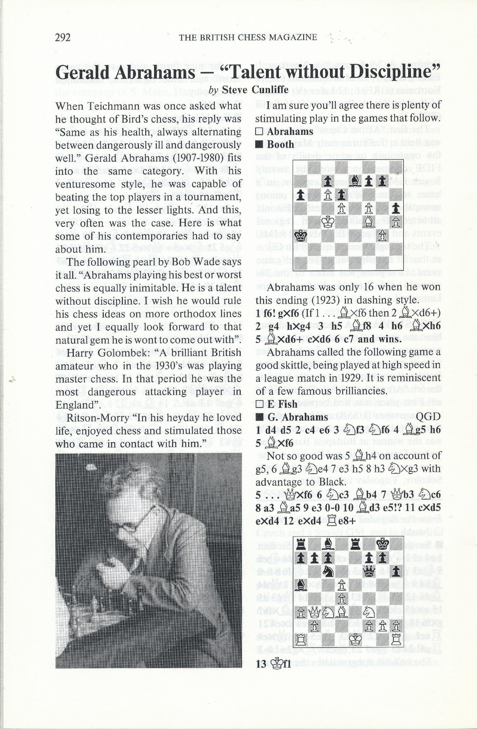 British Chess Magazine, Volume CVIII (1988), Number 7 (July), pp. 292