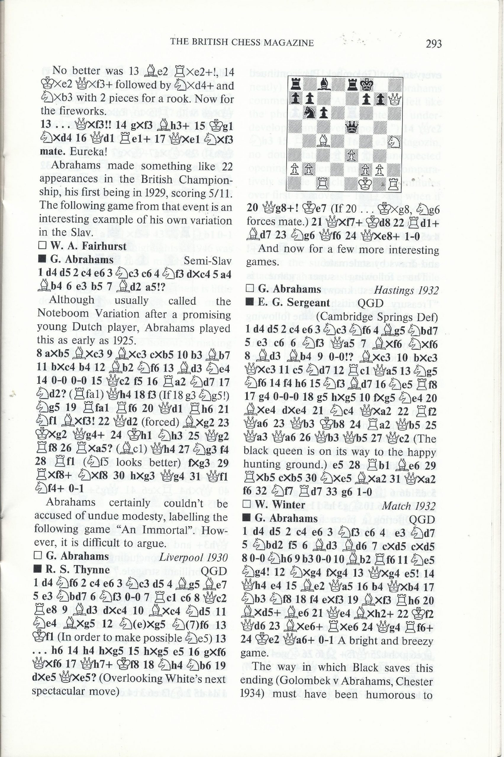 British Chess Magazine, Volume CVIII (1988), Number 7 (July), pp. 293