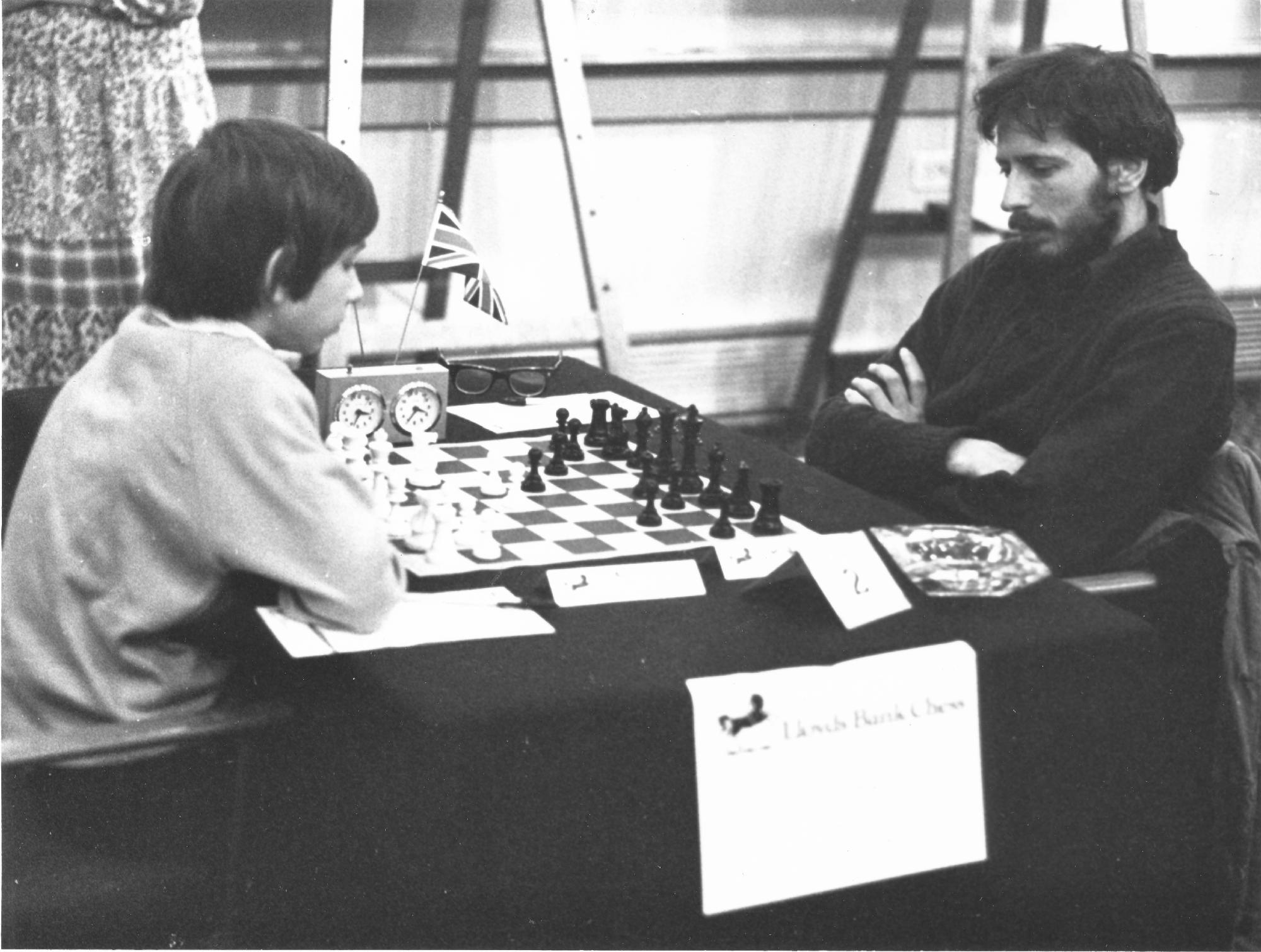 Joel Benjamin plays Mike Basman in round 2 of the 1978 Lloyds Bank Open
