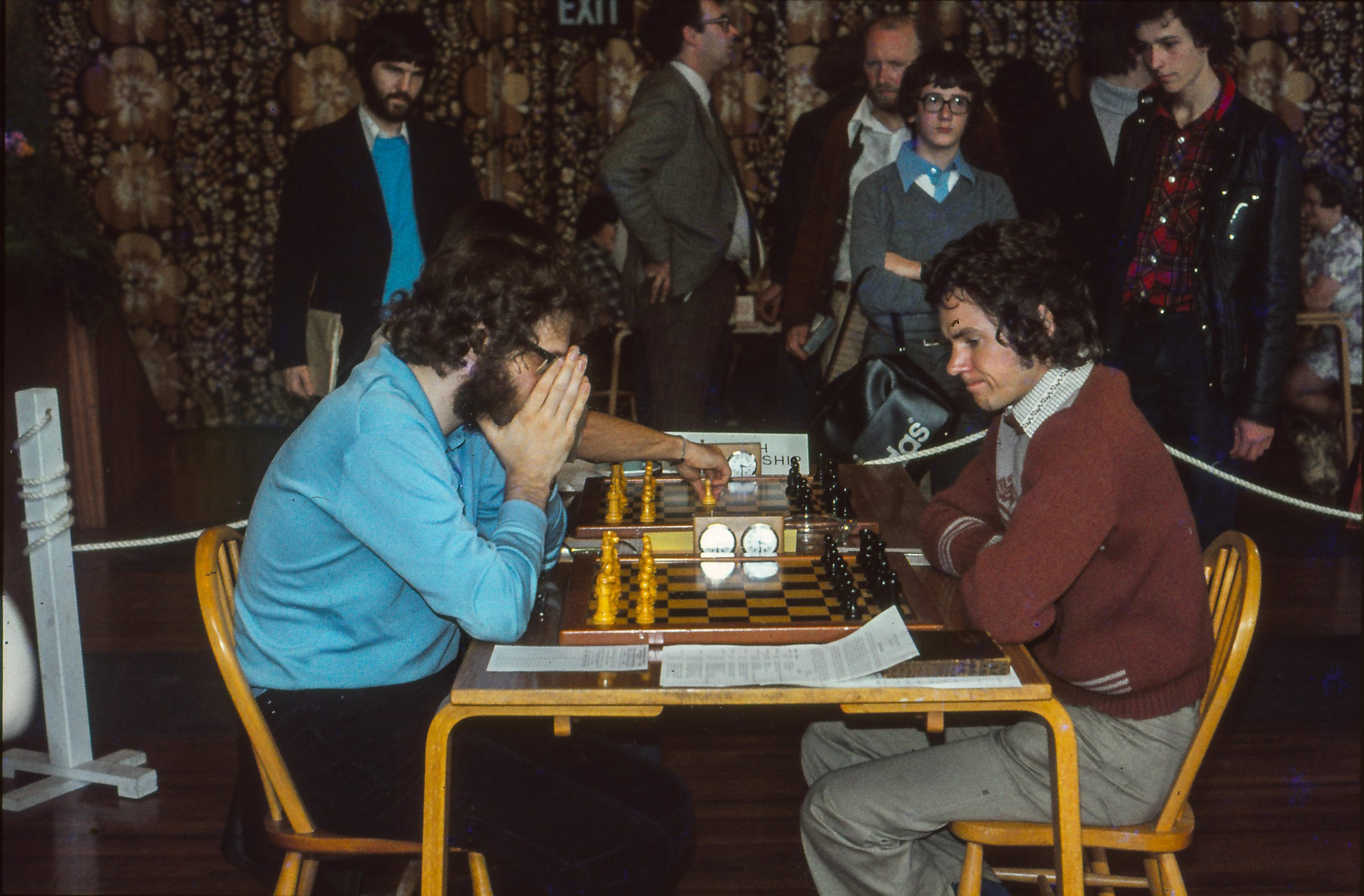 IM Jonathan Speelman vs IM Simon Webb at the 1978 British Championships in Ayr, Courtesy of John Upham