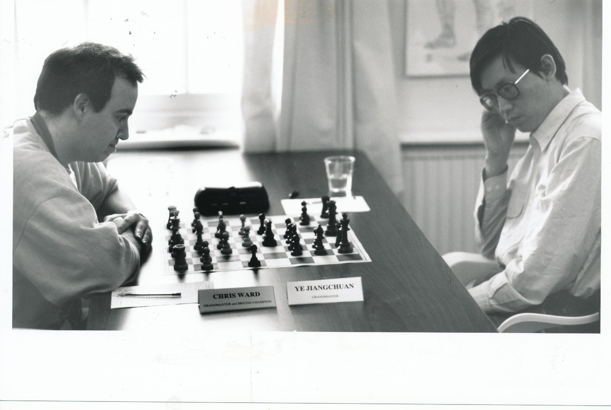 Chris plays Jiang Chuan Ye at the 1997 England - China match