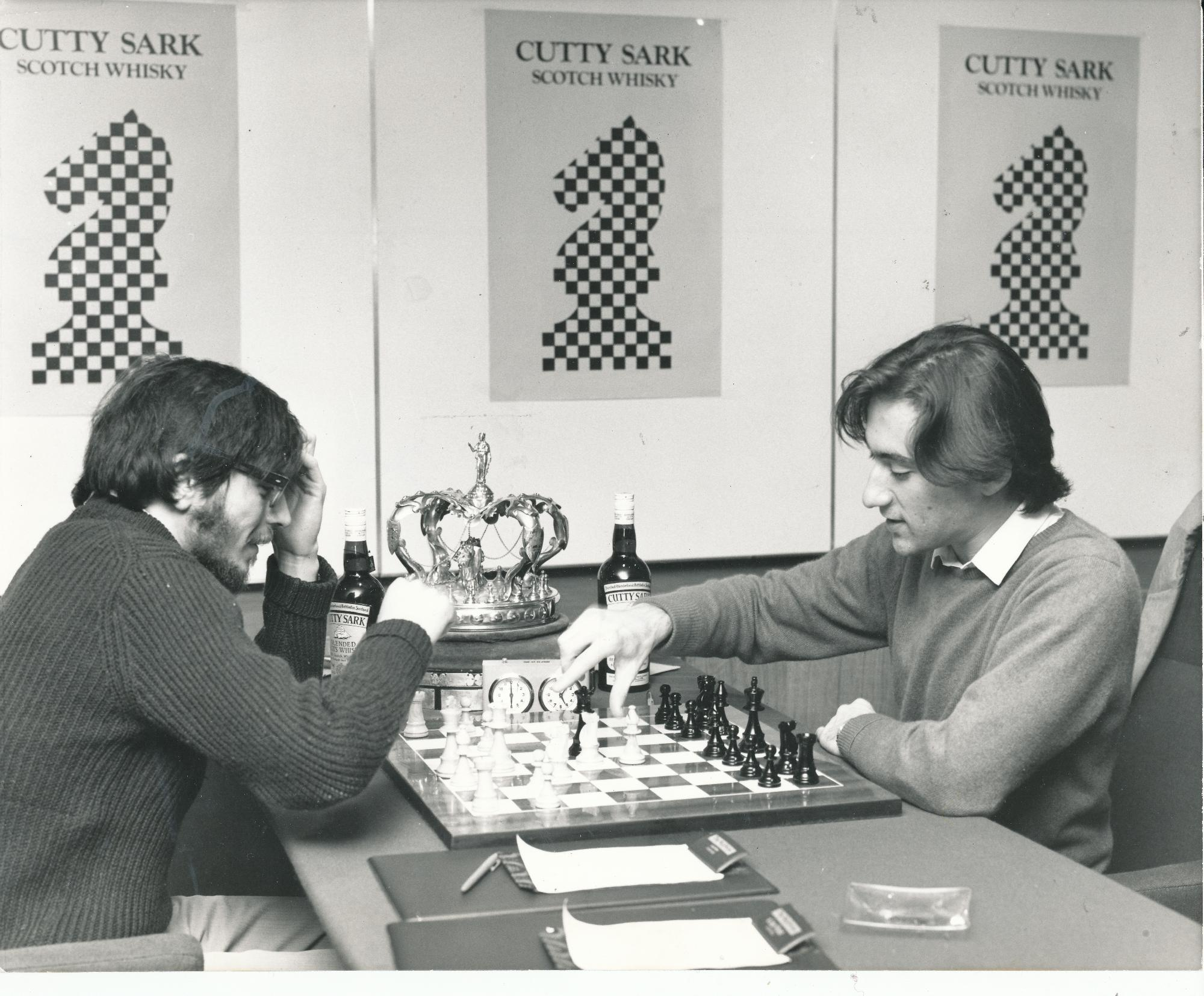 Mike plays William Hartston during the play-off for the 1973 British Championship