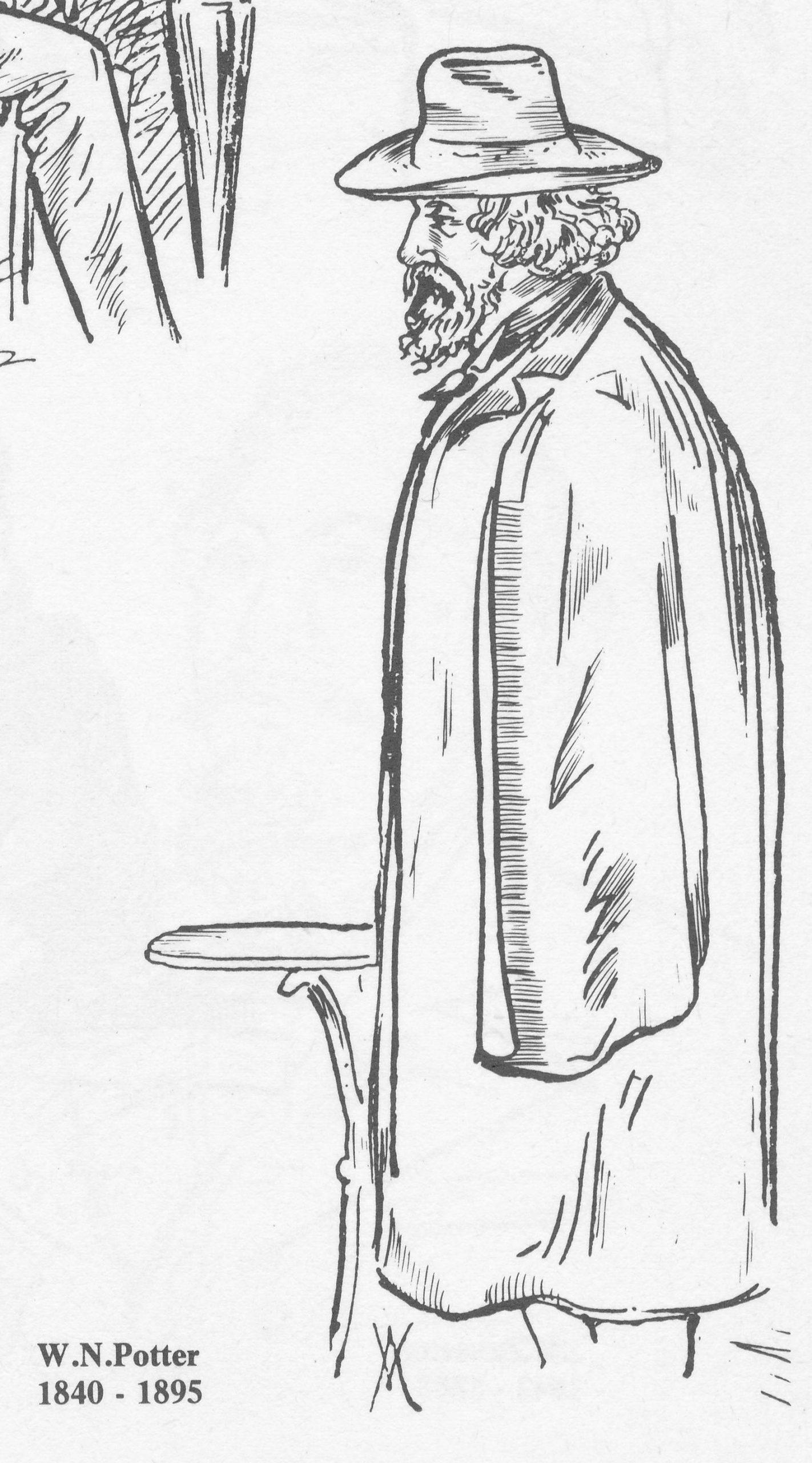 William Norwood Potter, (27-viii-1840 13-iii-1895) from Howard Staunton, The English World Chess Champion