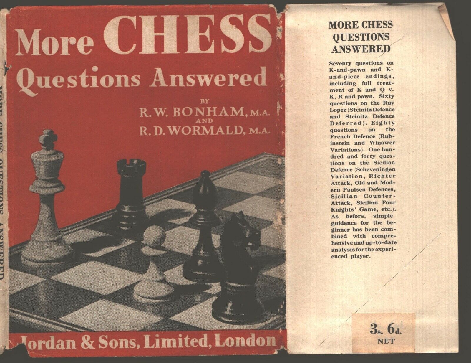 More Chess Questions Answered, RW Bonham & RD Wormald, Jordan & Sons Ltd, London, 1948