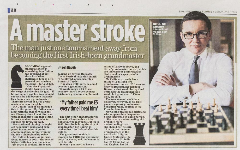 The Irish Mail on Sunday, February 8th 2015