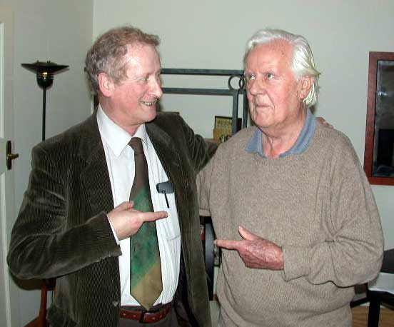 David Parlett (lhs) & David Brine Pritchard (rhs) in 2005. Editors of Games & Puzzles magazine