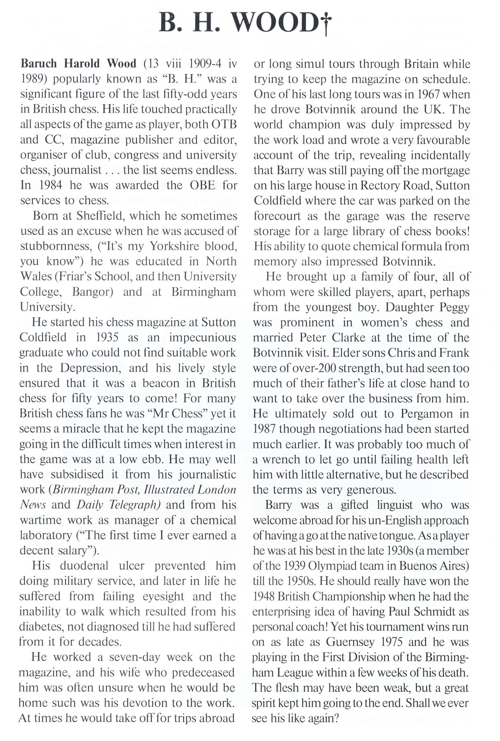 British Chess Magazine, Volume CX (109), Number 5 (May), page 210