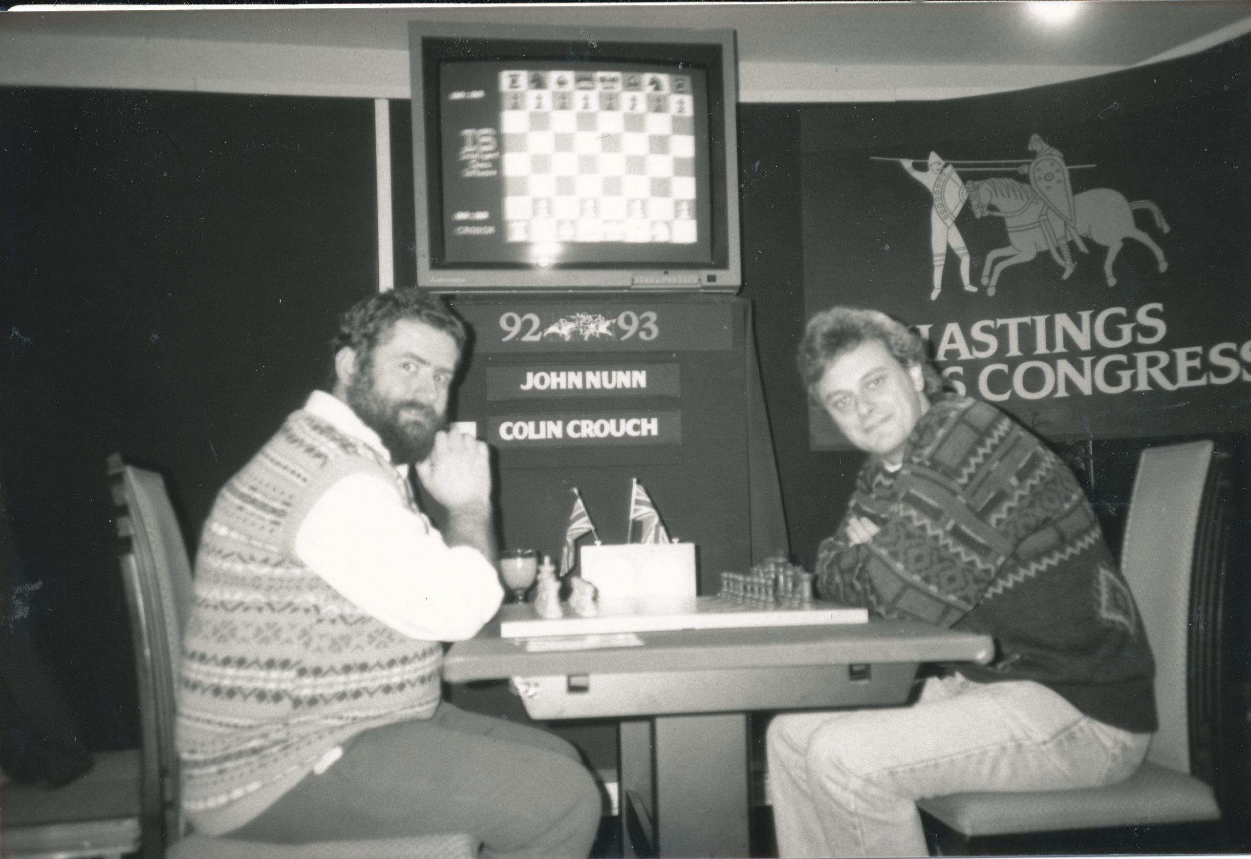 Colin at Hastings with John Nunn at Hastings 1992-3