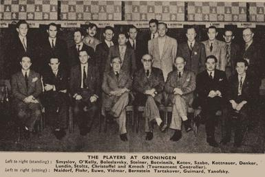 Players at the 1946 Groningen Tournament