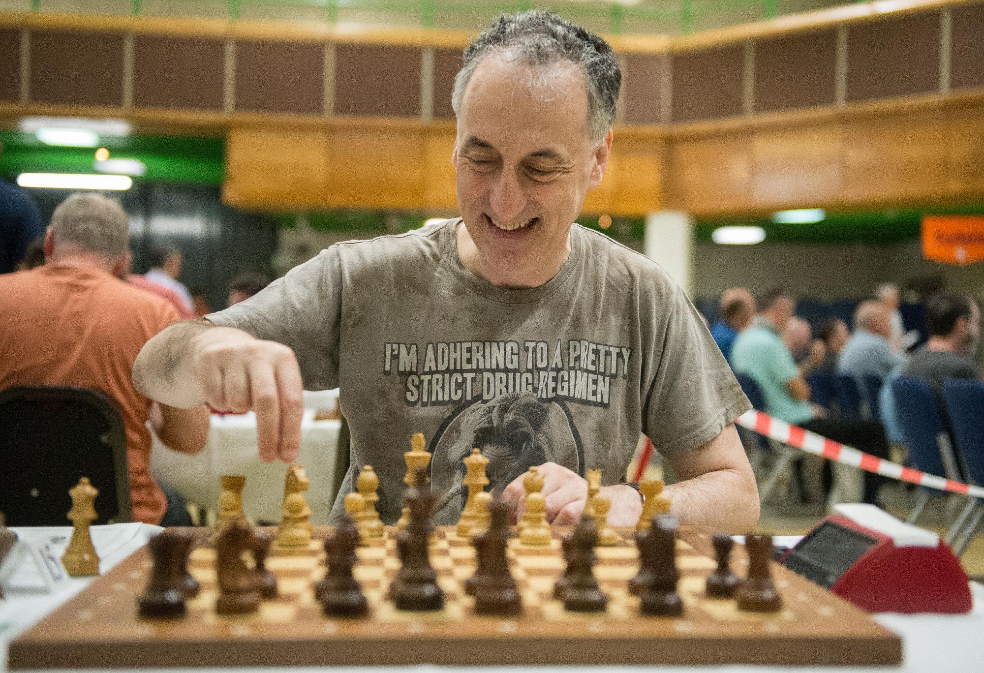 IM Malcolm Pein at the 2019 British Championships in Torquay, courtesy of John Upham Photography
