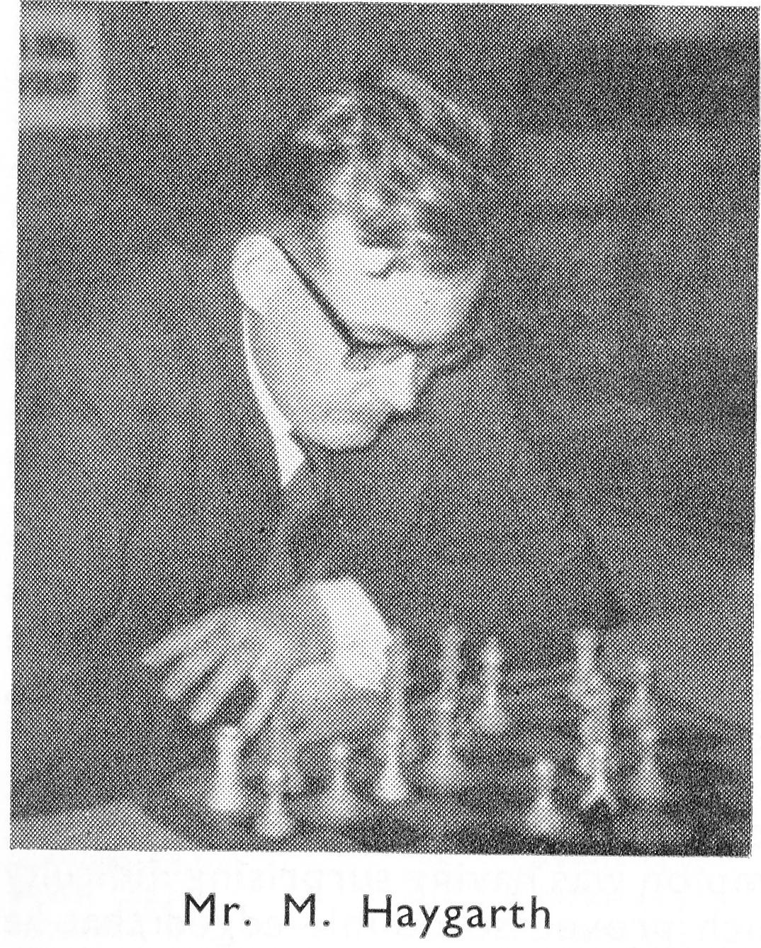 Michael John Haygarth, British Champion, 1964 (from British Chess Magazine, 1964)