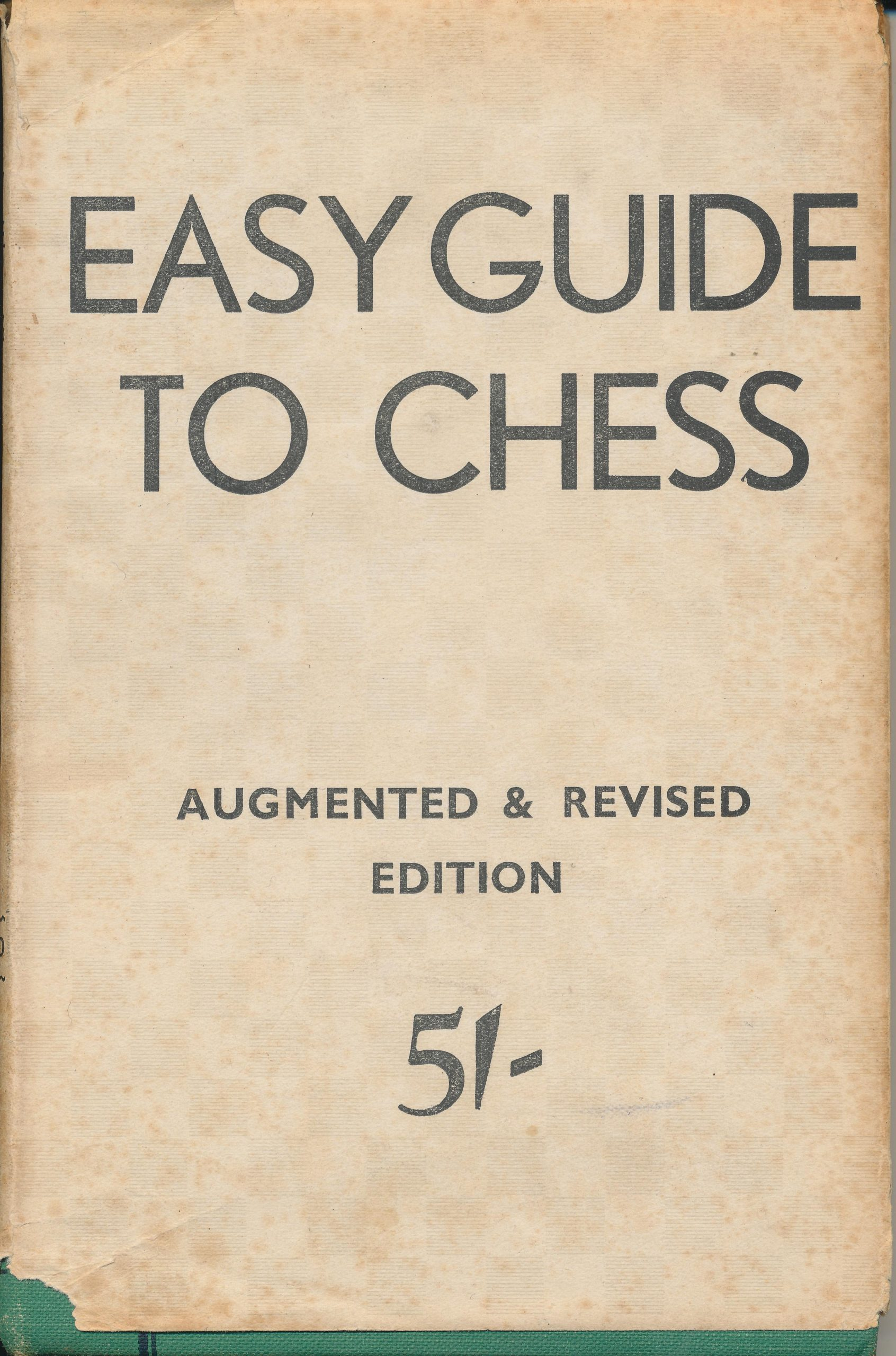 Easy Guide to Chess, BH Wood, CHESS, Sutton Coldfield, 1945