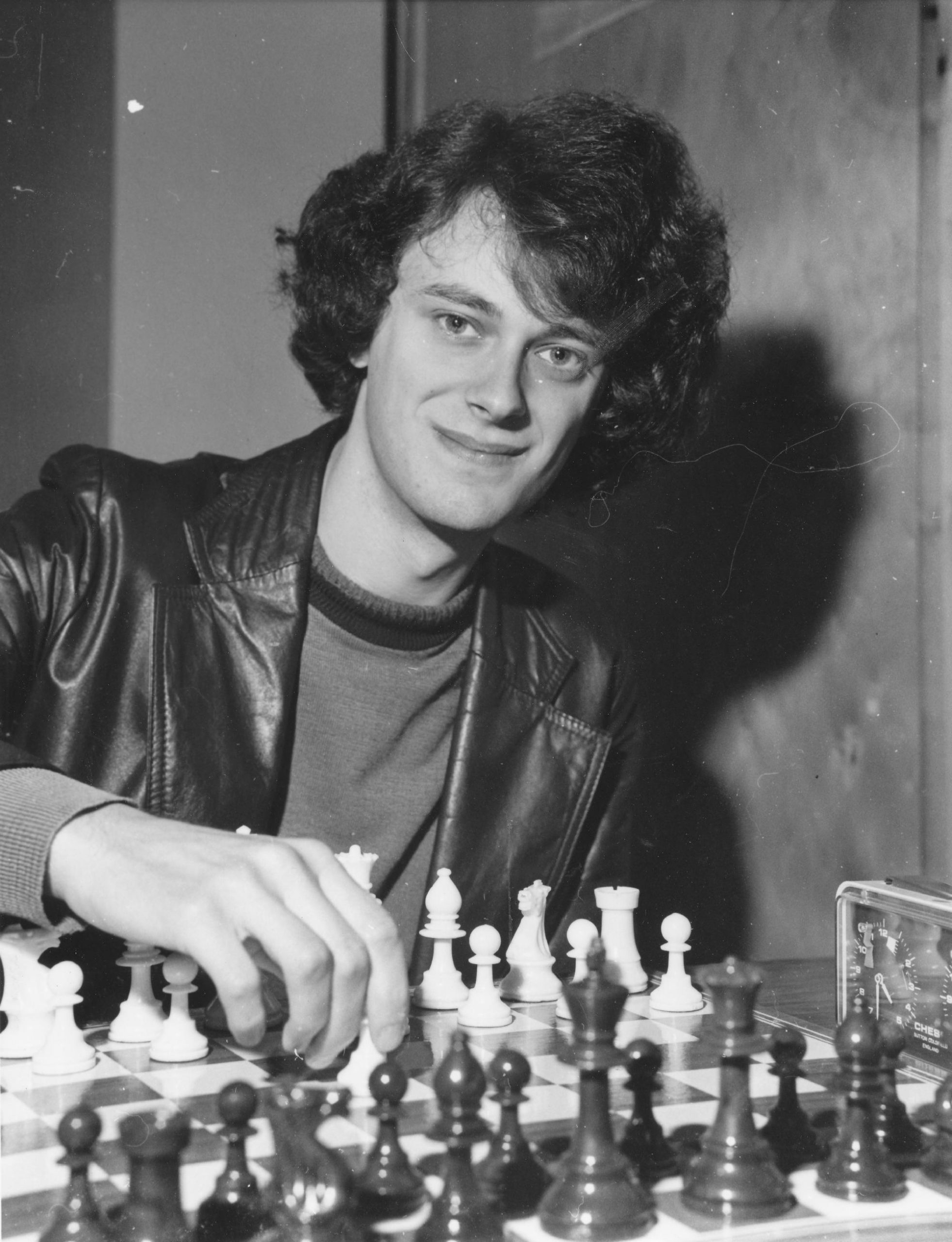 """John DM Nunn Britain' Number 2 chess grandmaster and winner of the Benedictine International Chess Championship Tournament in Manchester pictured during the Benedictine Tournament. September 15th , 1980. Photograph by John C Madden"""