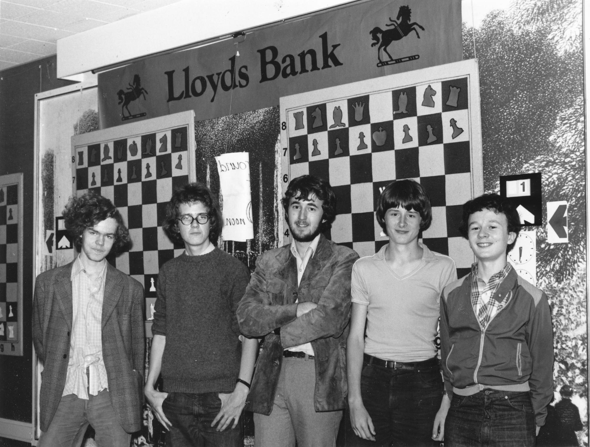 Peter Wells (second from right) at a Lloyds Bank event.