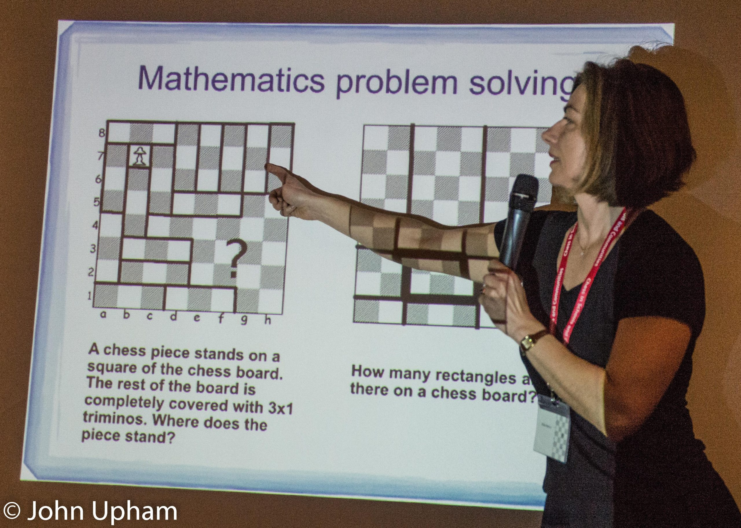 WIM Rita Atkins at the 2016 London Chess Conference  : The Didactics of Chess, Courtesy of John Upham Photography.
