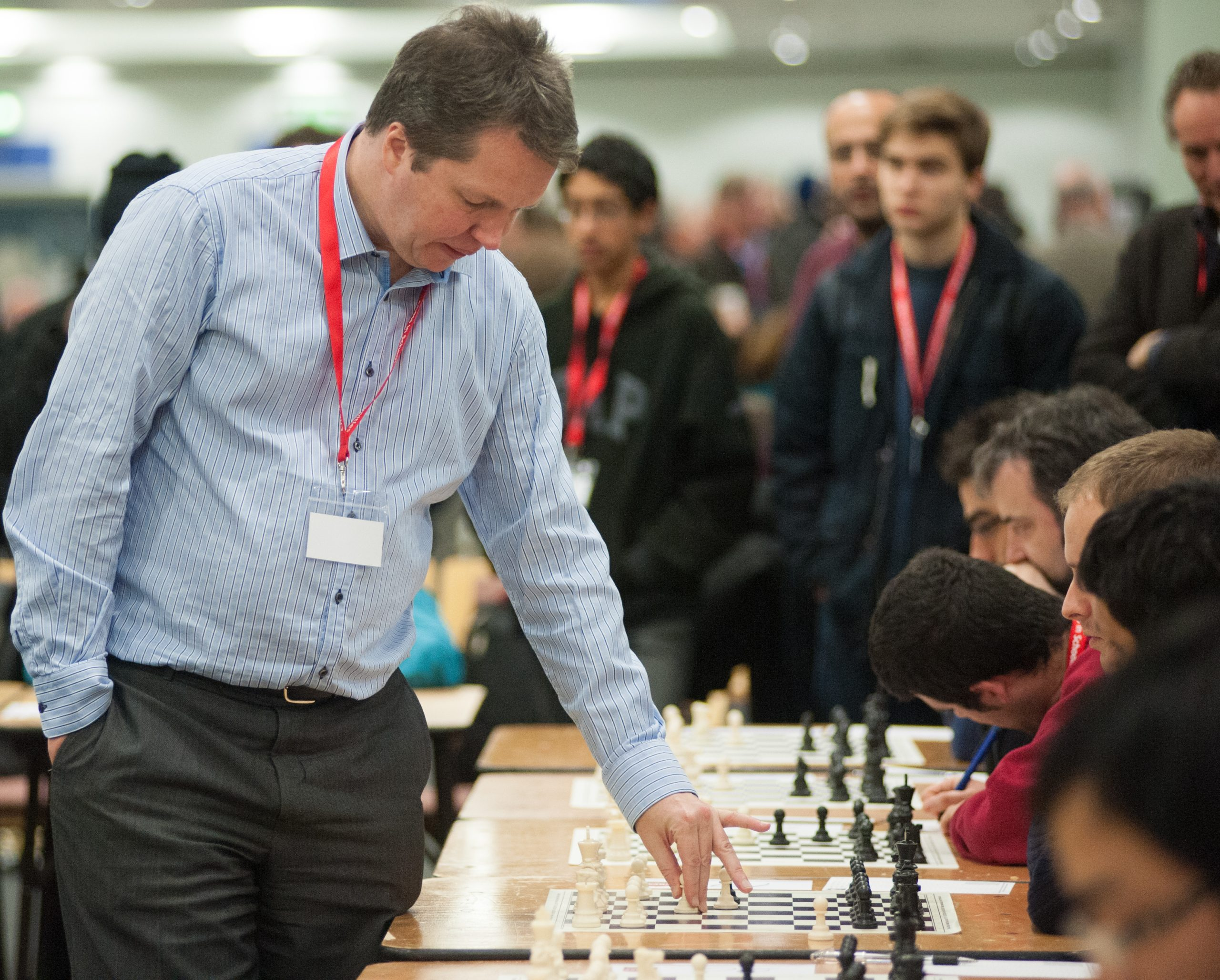 Nigel Short Simultaneous display at the 2012 London Chess Classic, courtesy of John Upham Photography