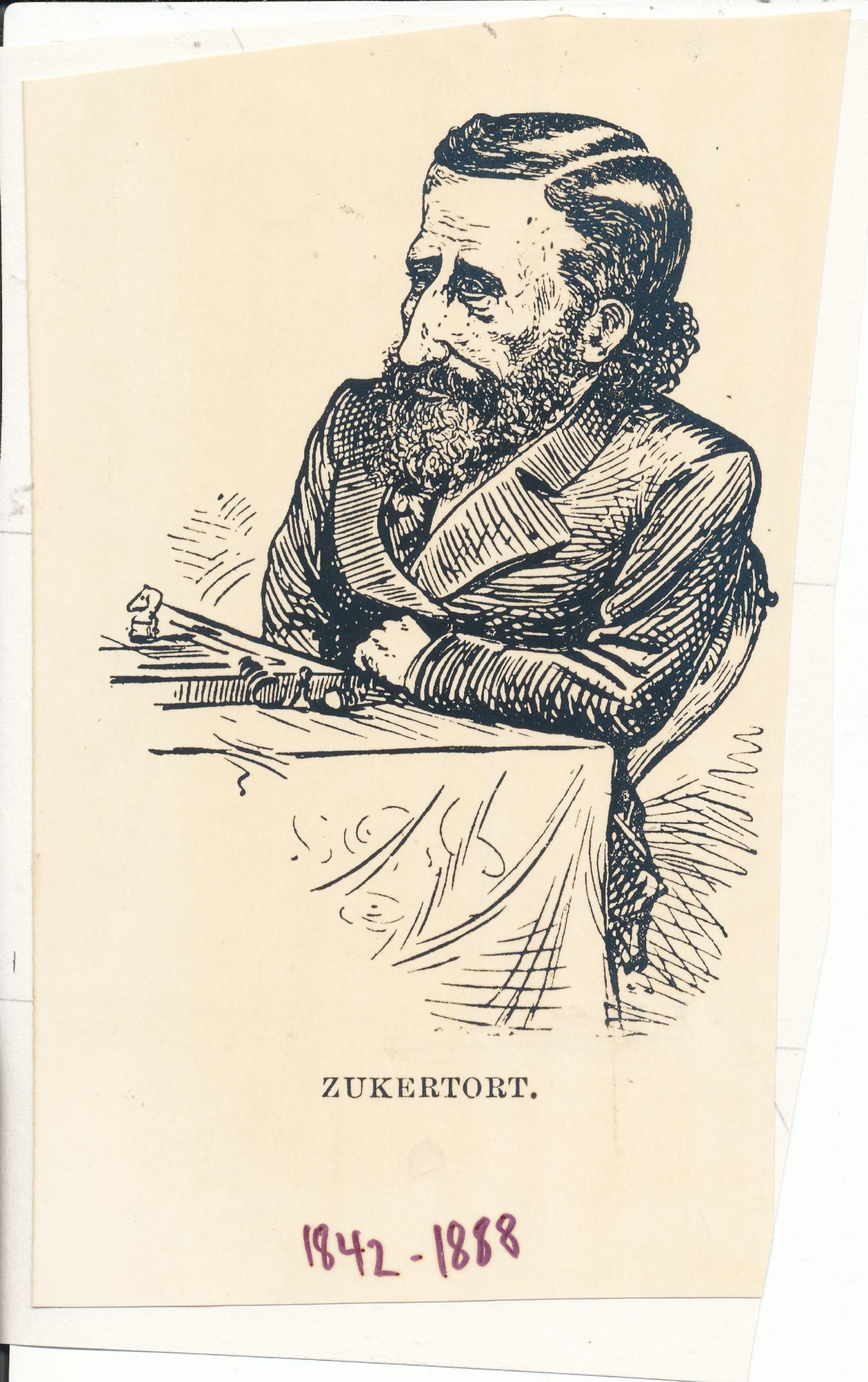Johannes Hermann Zukertort (07-ix-1842 20-vi-1888), from the Illustrated London News