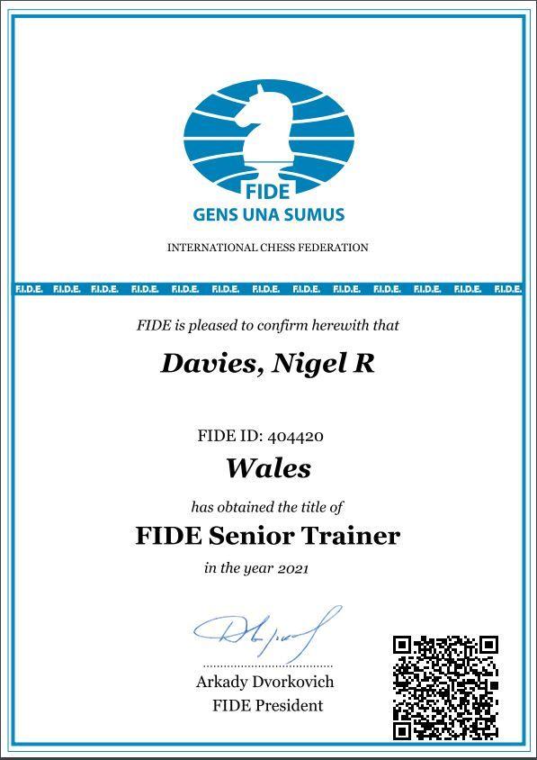 Nigel Davies, FIDE Senior Trainer
