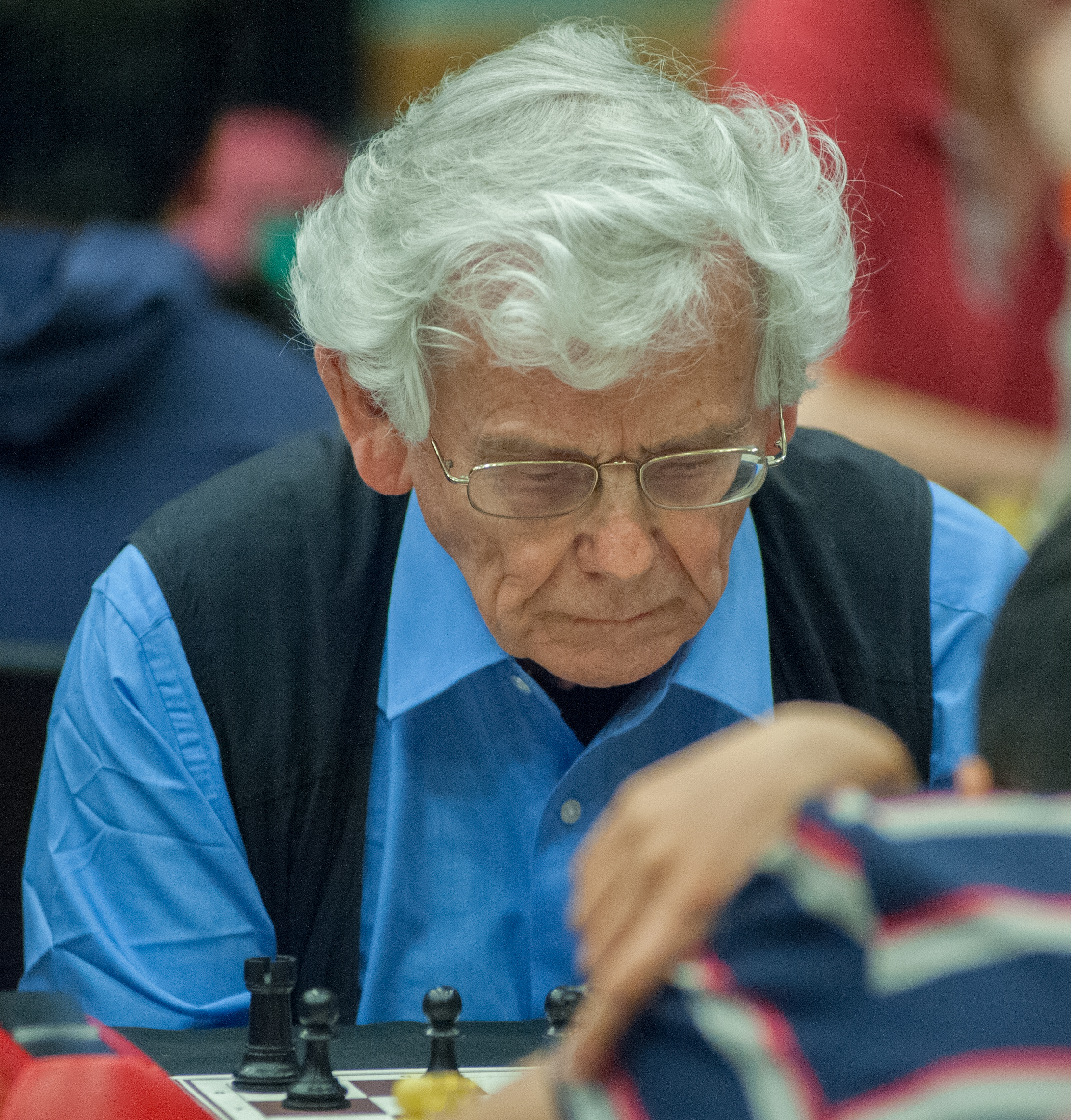 Prof. Julian Farrand at the King's Place Rapidplay, 2013, courtesy of John Upham Photography