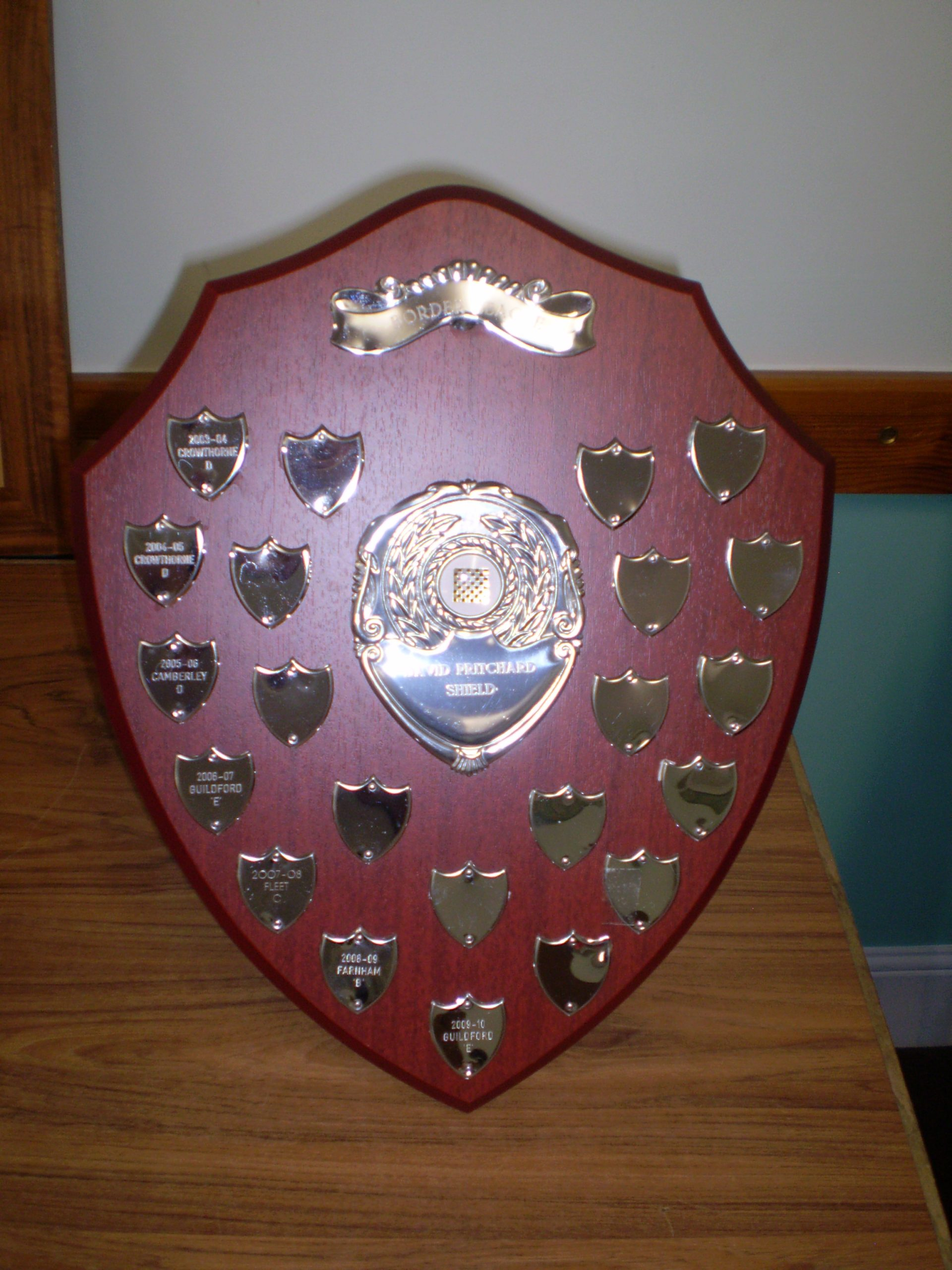 The David Pritchard Shield from the Surrey Border League
