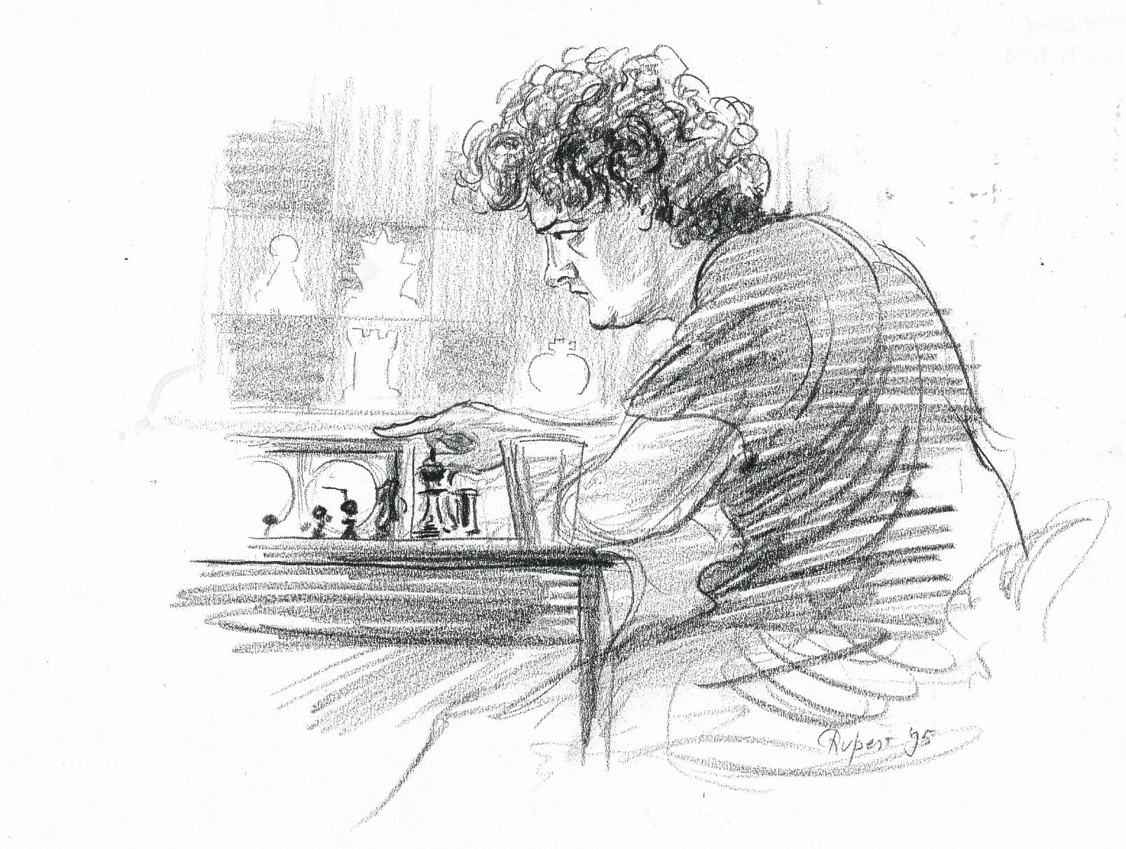 Julian Hodgson drawn by Rupert van der Linden