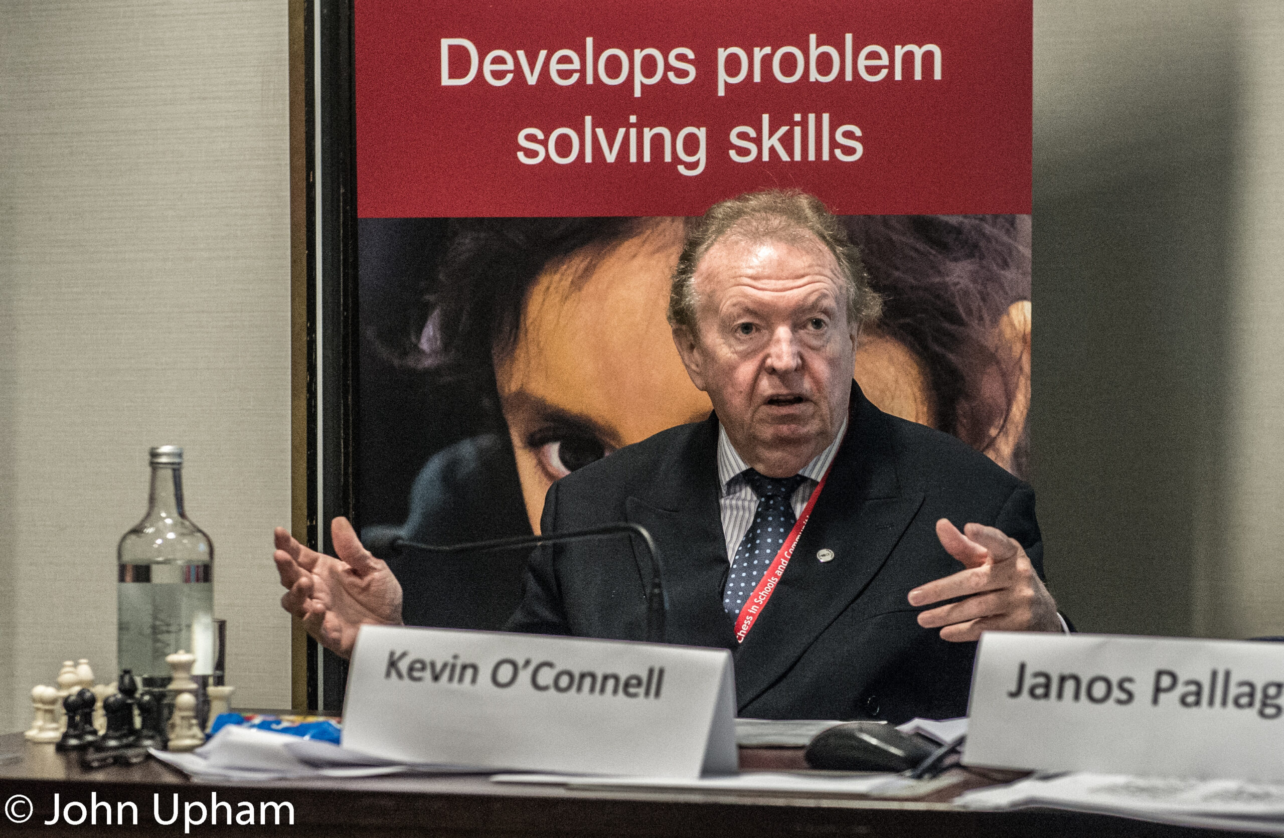 Kevin O'Connell at the London Chess Conference, 2016, courtesy of John Upham Photography